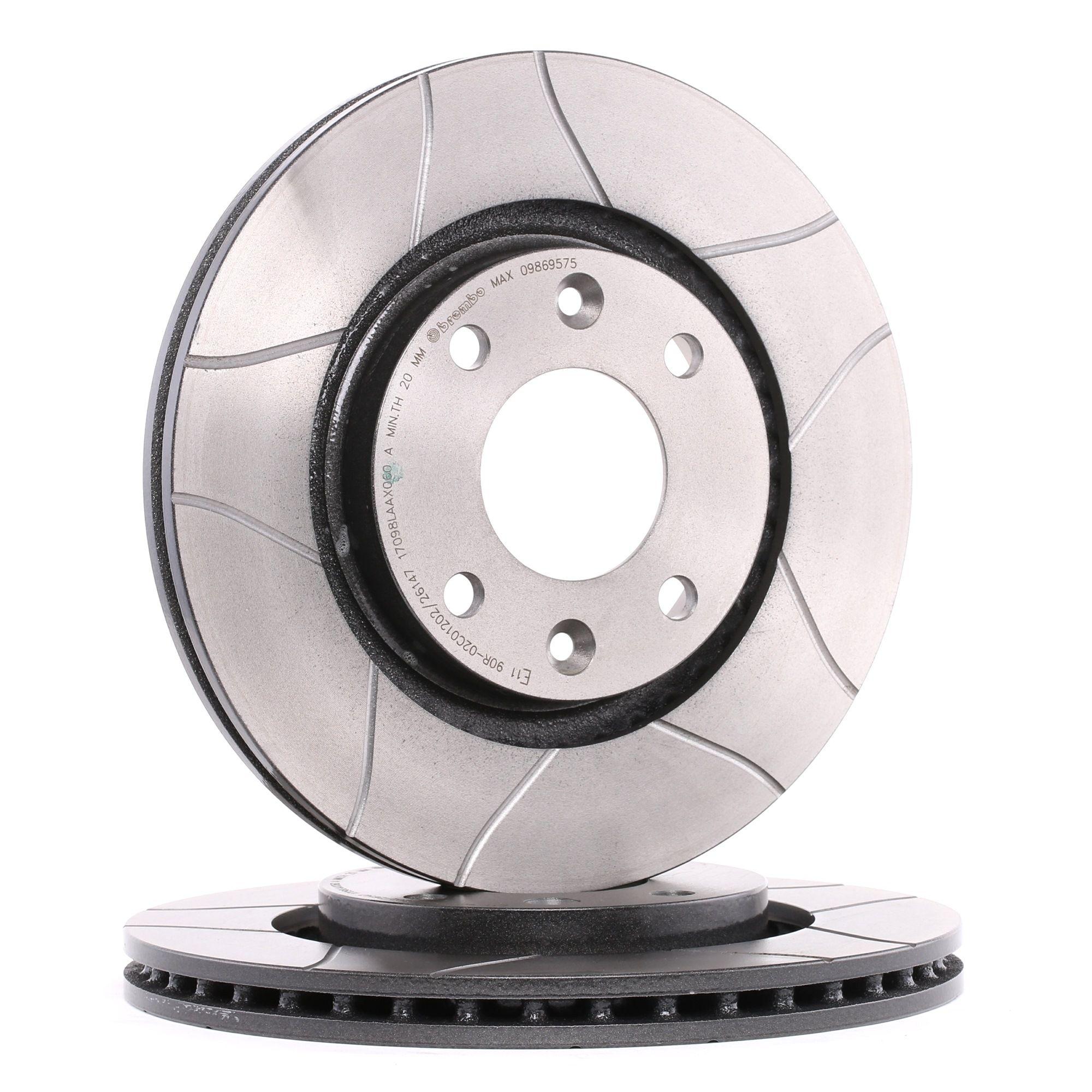 Achetez Disque BREMBO 09.8695.75 (Ø: 266mm, Nbre de trous: 4, Épaisseur du disque de frein: 22mm) à un rapport qualité-prix exceptionnel