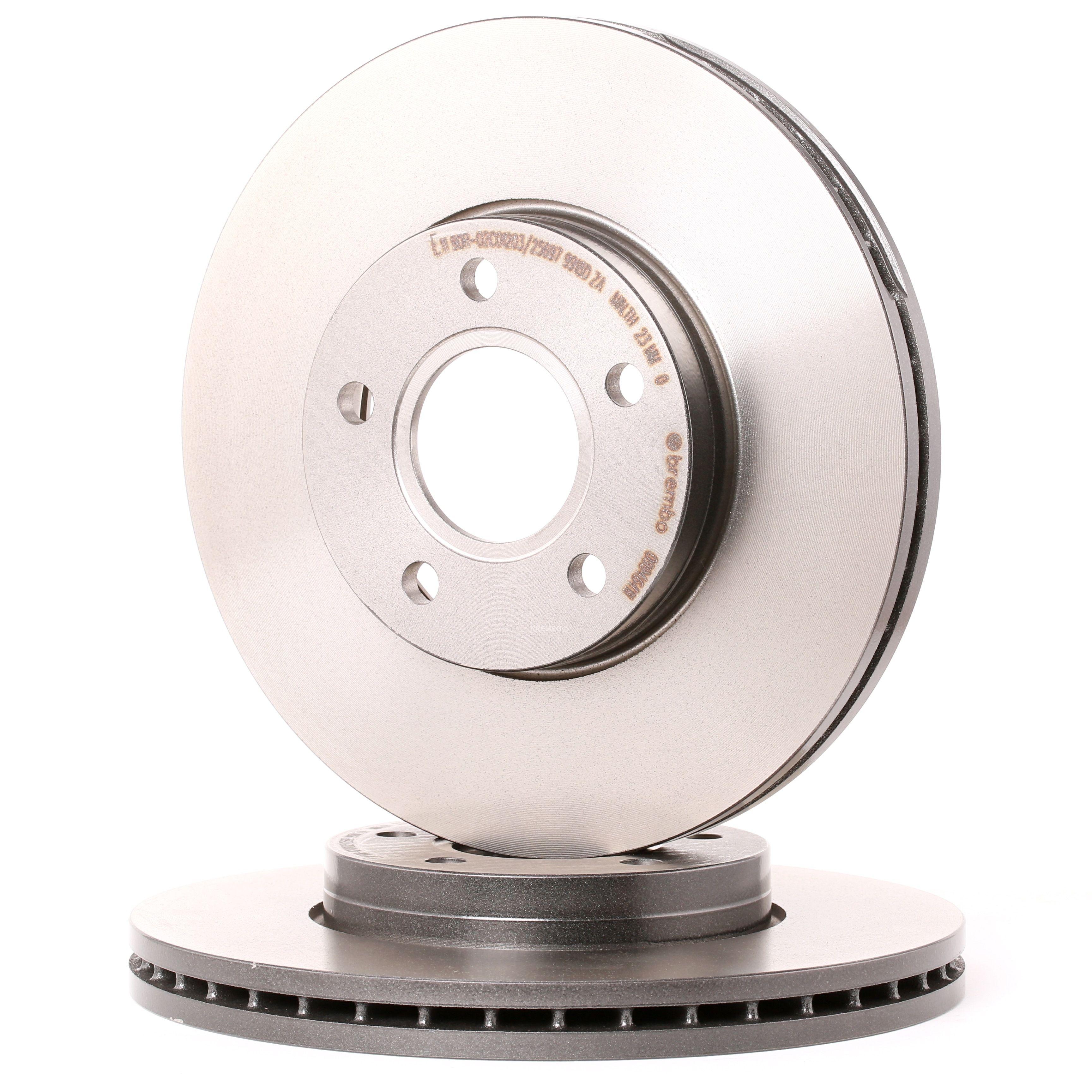 VOLVO V50 2007 Bremsscheiben - Original BREMBO 09.9464.11 Ø: 278mm, Lochanzahl: 5, Bremsscheibendicke: 25mm