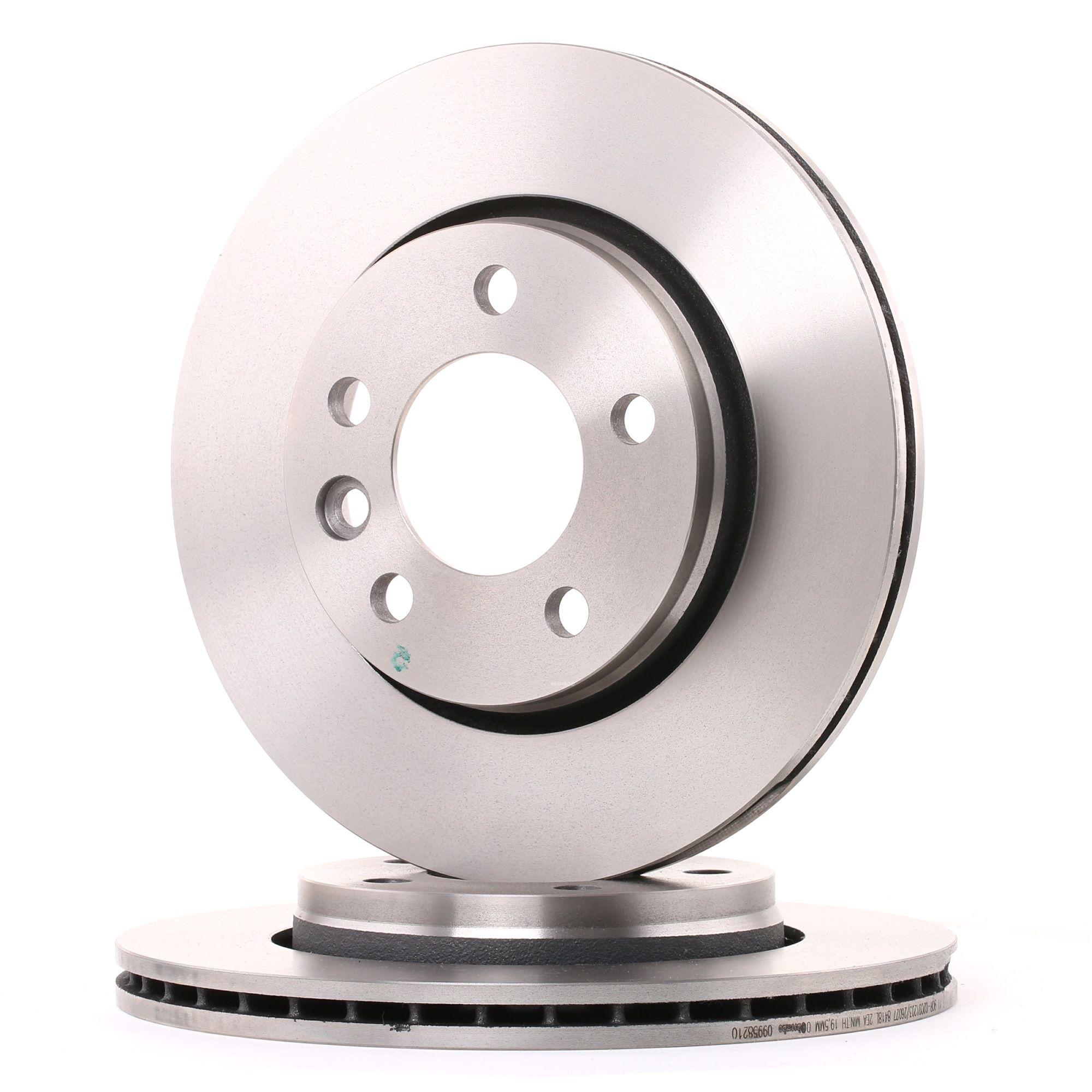 Achetez Disques de frein BREMBO 09.9582.10 (Ø: 294mm, Nbre de trous: 5, Épaisseur du disque de frein: 22mm) à un rapport qualité-prix exceptionnel