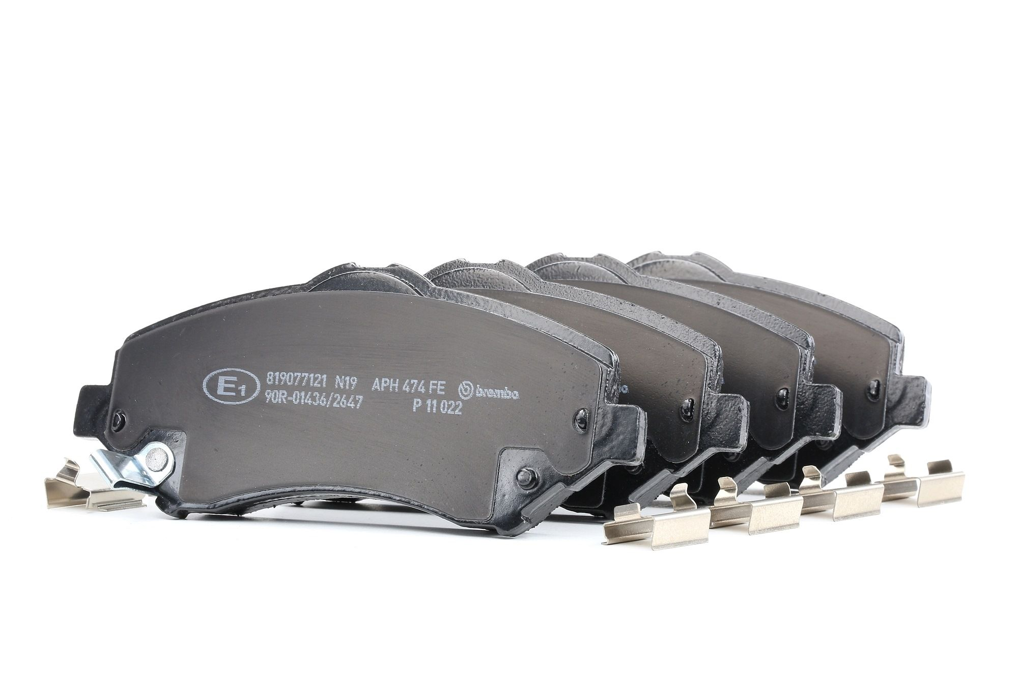 JEEP WRANGLER 2020 Bremsbelagsatz - Original BREMBO P 11 022 Höhe: 63,4mm, Breite: 146,6mm, Dicke/Stärke: 17,5mm