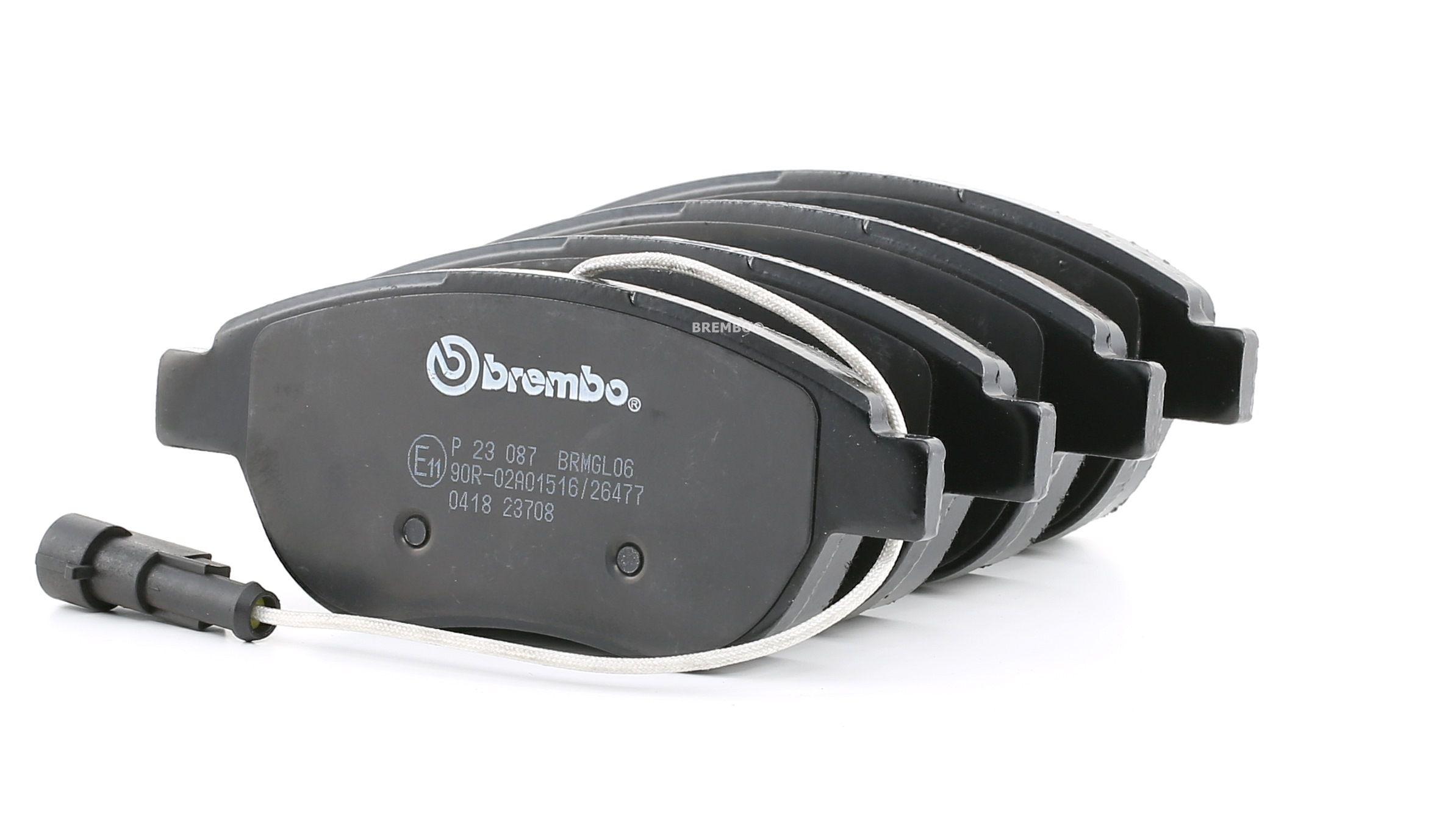 BREMBO: Original Bremsklötze P 23 087 (Höhe: 57,4mm, Breite: 137mm, Dicke/Stärke: 19,0mm)