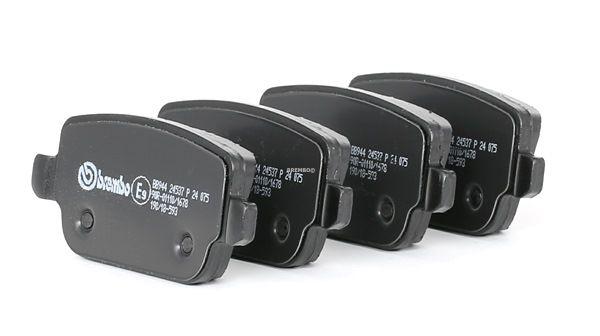 BREMBO: Original Bremsbeläge P 24 075 (Höhe: 43,2mm, Breite: 95,4mm, Dicke/Stärke: 15,7mm) mit vorteilhaften Preis-Leistungs-Verhältnis