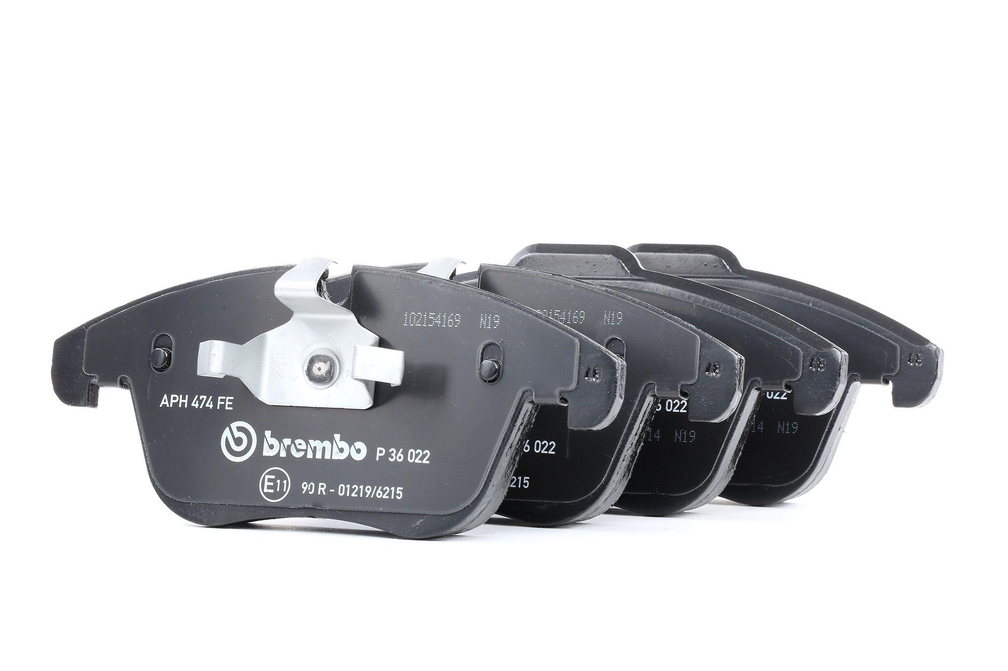 8358D1241 BREMBO für Verschleißwarnanzeiger vorbereitet Höhe 1: 66,6mm, Höhe 2: 72,0mm, Breite 1: 156mm, Breite 2: 156,2mm, Dicke/Stärke: 19mm Bremsbelagsatz, Scheibenbremse P 36 022 günstig kaufen