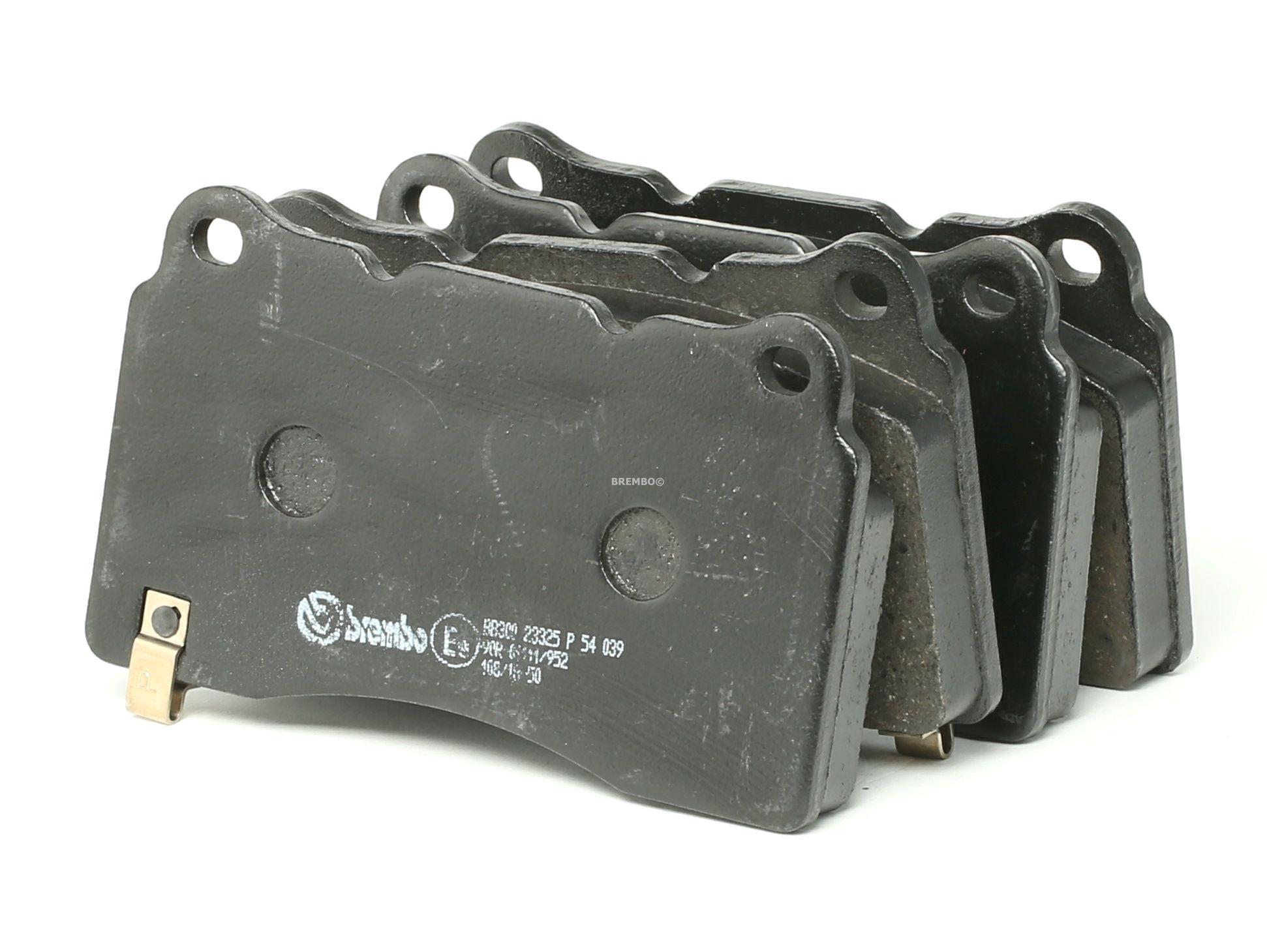 BREMBO: Original Bremsklötze P 54 039 (Höhe: 77,2mm, Breite: 131,6mm, Dicke/Stärke: 15mm)