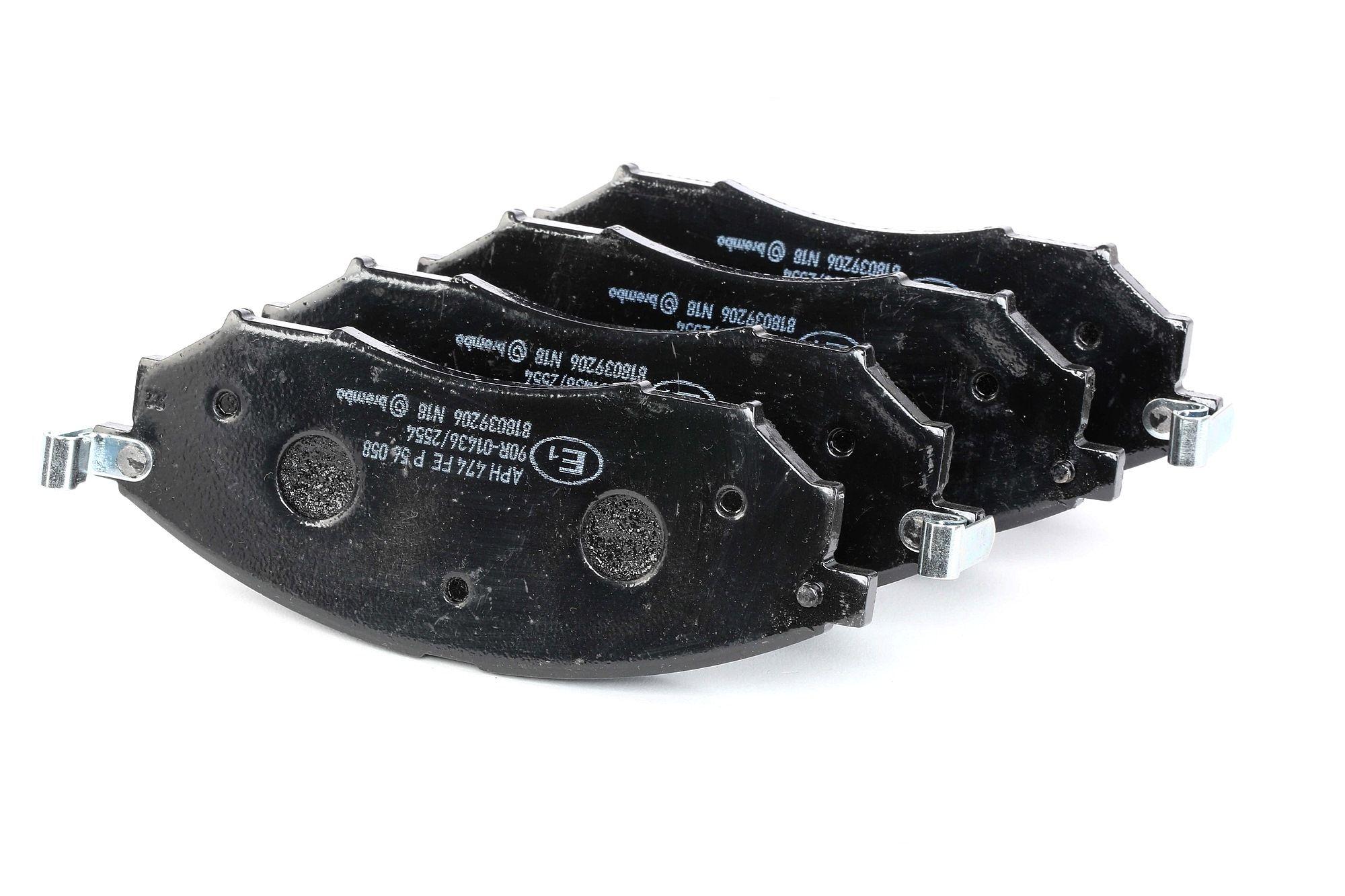 D8888221 BREMBO mit akustischer Verschleißwarnung Höhe: 58,5mm, Breite: 157,3mm, Dicke/Stärke: 16mm Bremsbelagsatz, Scheibenbremse P 56 058 günstig kaufen