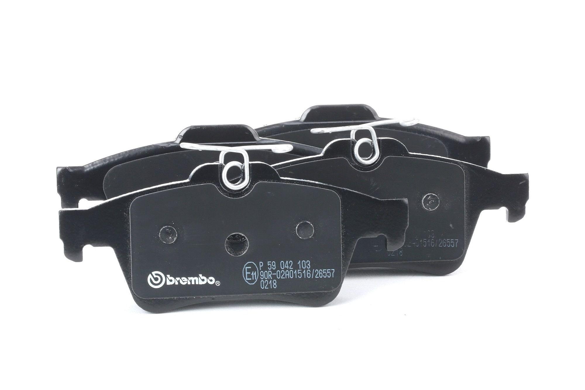 BREMBO: Original Bremssteine P 59 042 (Höhe: 51,9mm, Breite: 123,2mm, Dicke/Stärke: 16,7mm)