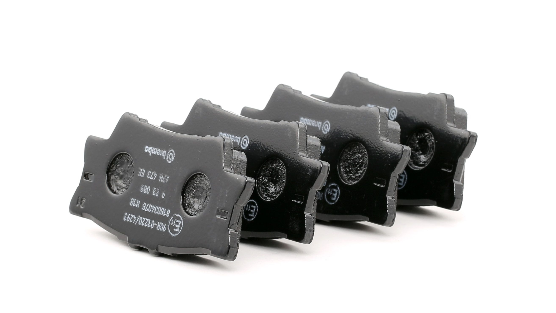 D16328332 BREMBO exkl. Verschleißwarnkontakt Höhe: 49,2mm, Breite: 96,8mm, Dicke/Stärke: 15,4mm Bremsbelagsatz, Scheibenbremse P 83 089 günstig kaufen