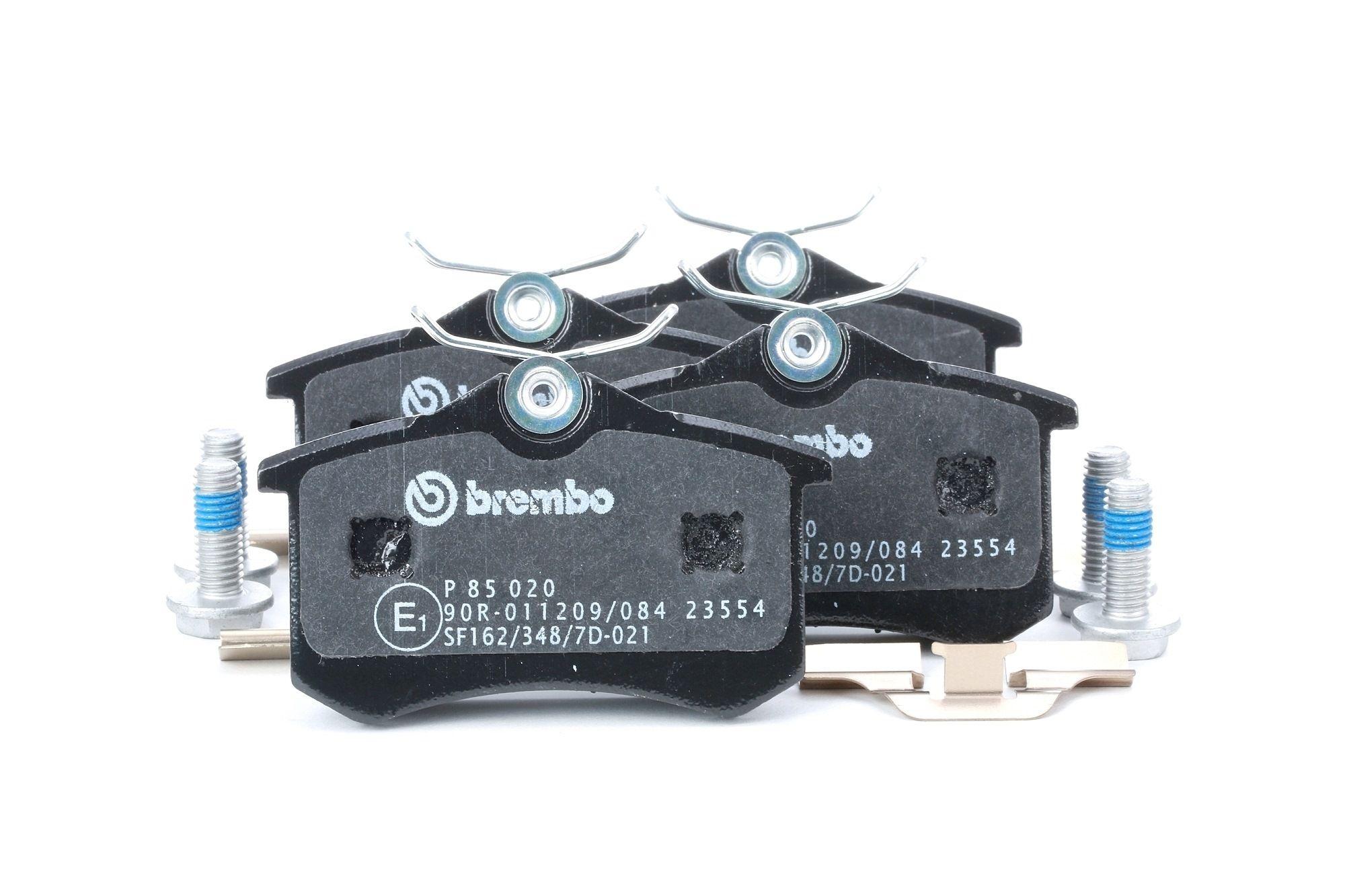 D8947773 BREMBO exkl. Verschleißwarnkontakt, mit Bremssattelschrauben, mit Zubehör Höhe: 53mm, Breite: 87mm, Dicke/Stärke: 17,2mm Bremsbelagsatz, Scheibenbremse P 85 020 günstig kaufen