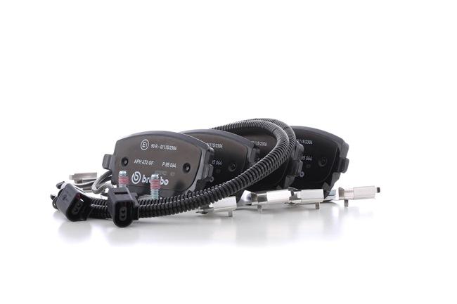 7921D1018 BREMBO con contacto avisador de desgaste, con tornillos pinza freno, con accesorios Altura: 59mm, Ancho: 116,5mm, Espesor: 17,7mm Juego de pastillas de freno P 85 064 a buen precio
