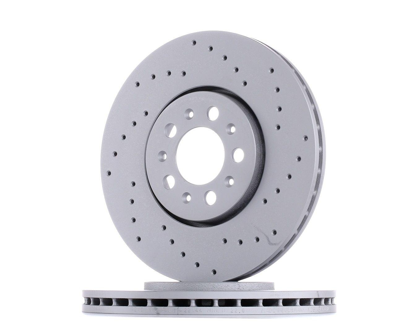 Achetez Disque ZIMMERMANN 100.1235.52 (Ø: 288mm, Jante: 5Trou, Épaisseur du disque de frein: 25mm) à un rapport qualité-prix exceptionnel