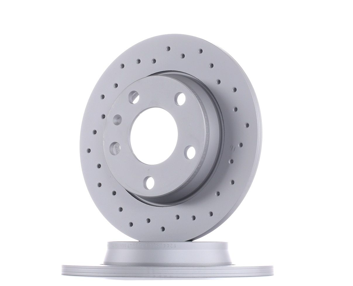 ZIMMERMANN Disc Brakes AUDI,SEAT 100.1244.52 8E0615601D,8E0615601Q Brake Rotors,Brake Discs,Disk Brakes,Brake Disc