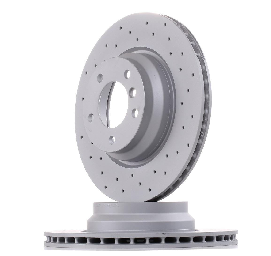 Origine Système de freinage ZIMMERMANN 150.3428.52 (Ø: 330mm, Jante: 5Trou, Épaisseur du disque de frein: 24mm)