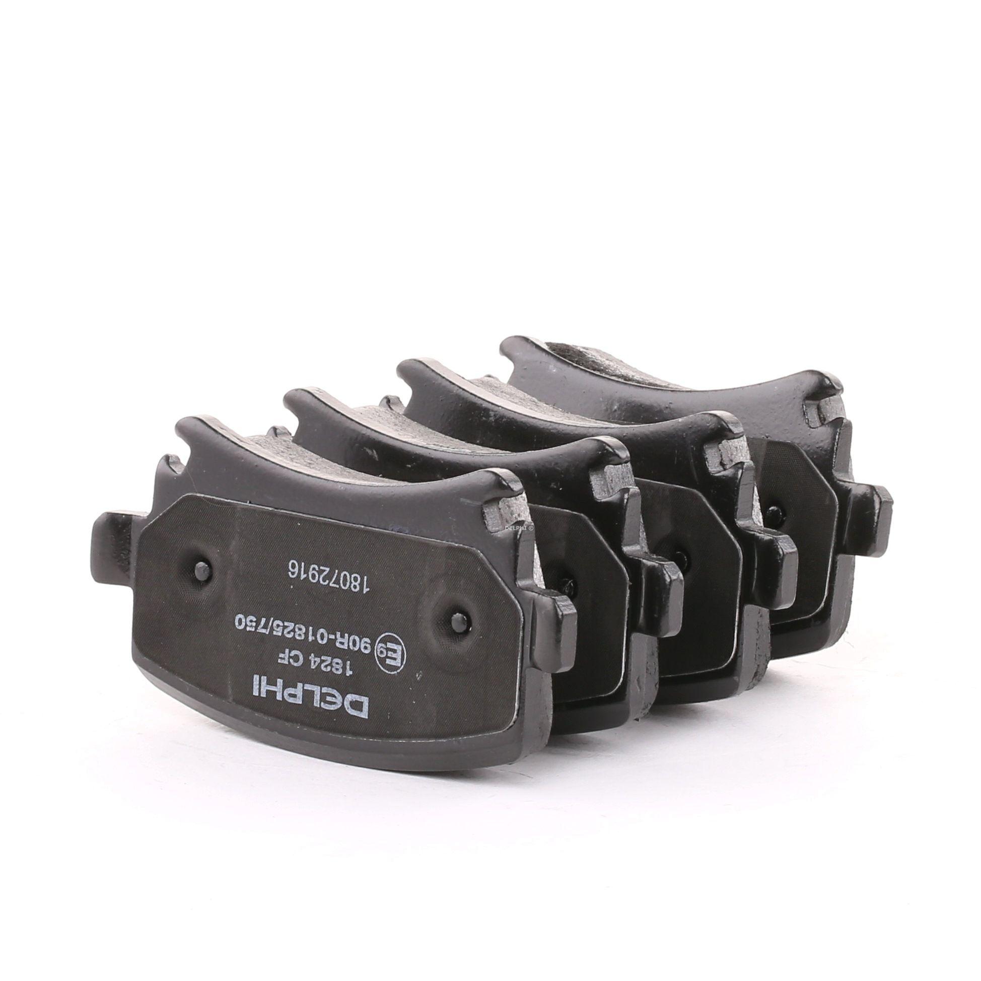 D11088213 DELPHI ohne integrierten Verschleißsensor, für Verschleißwarnanzeiger vorbereitet Höhe: 56mm, Dicke/Stärke 1: 18mm Bremsbelagsatz, Scheibenbremse LP1824 günstig kaufen