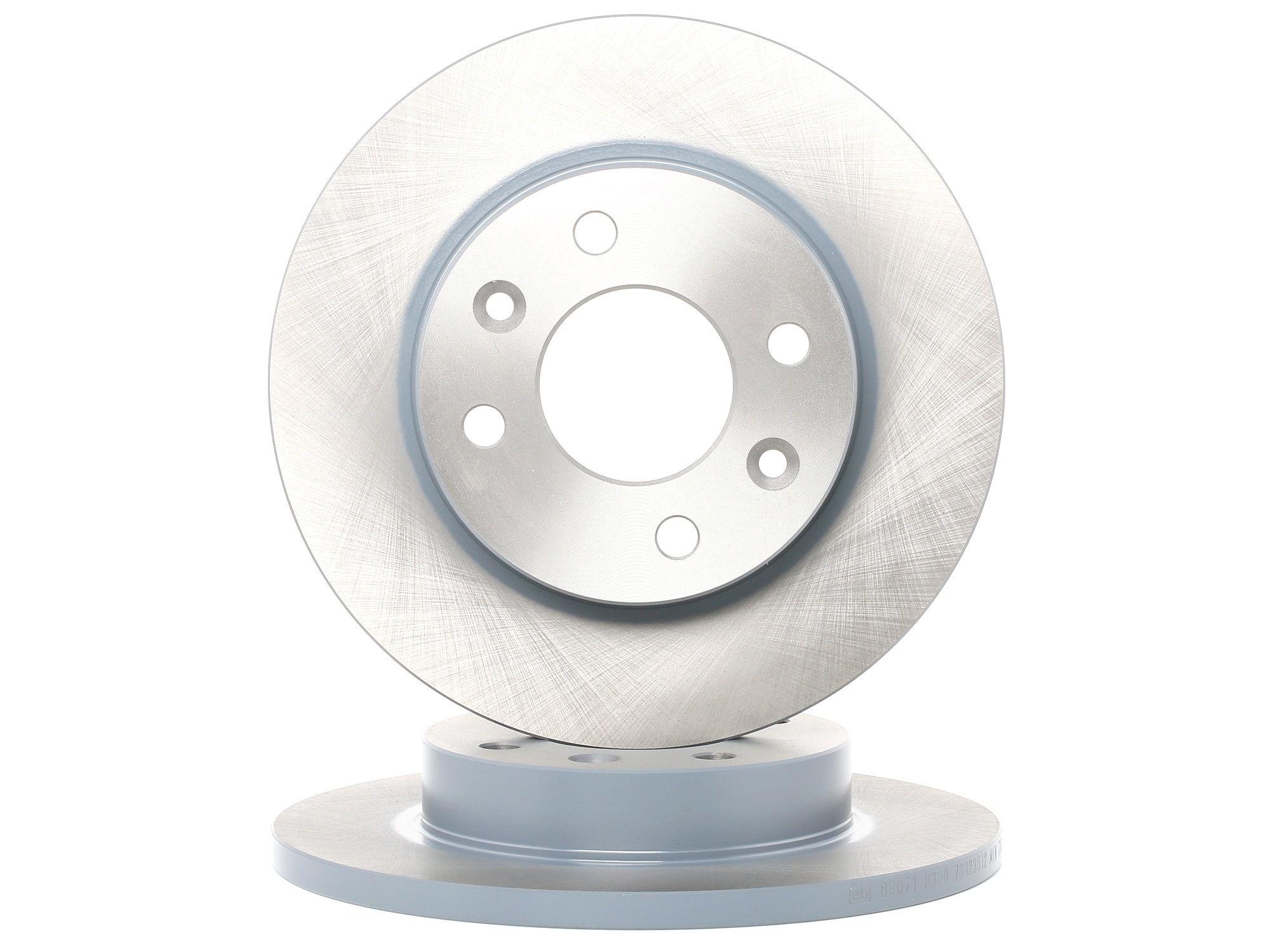 09071 FEBI BILSTEIN Vorderachse, Voll, 37 Ø: 238,0mm, Bremsscheibendicke: 12mm Bremsscheibe 09071 günstig kaufen