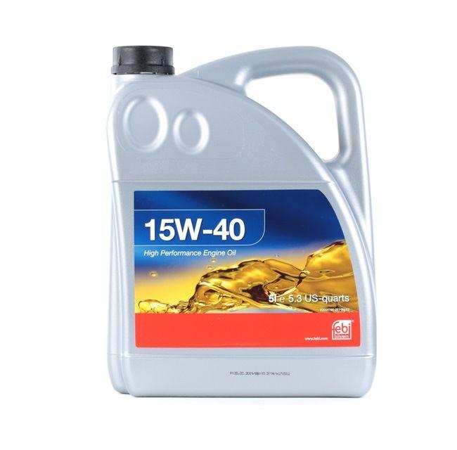 originali FEBI BILSTEIN Olio motore per auto 4027816329275 15W-40, 5l, Olio minerale