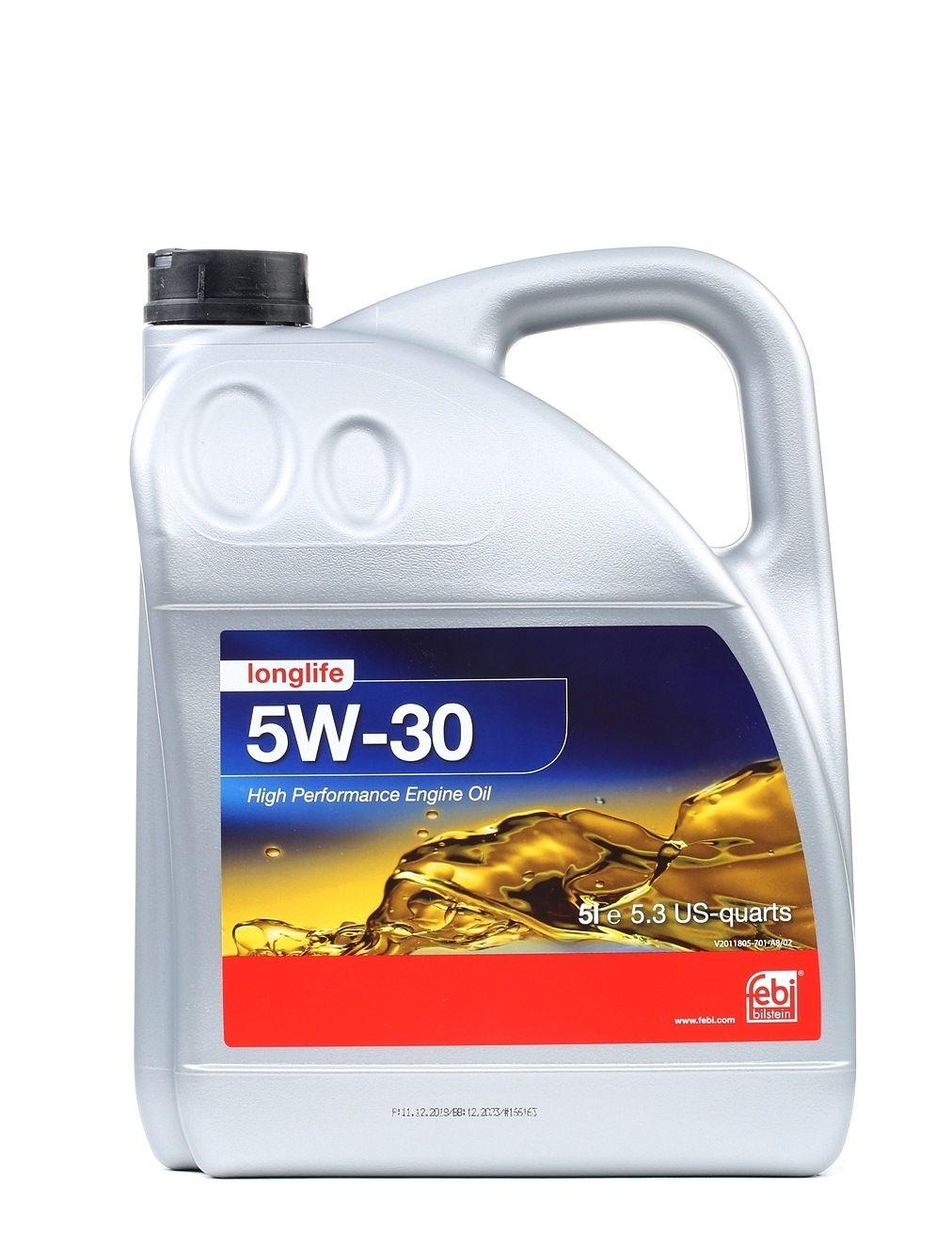 Comprare VW50501 FEBI BILSTEIN 5W-30, 5l Olio motore 32943 poco costoso