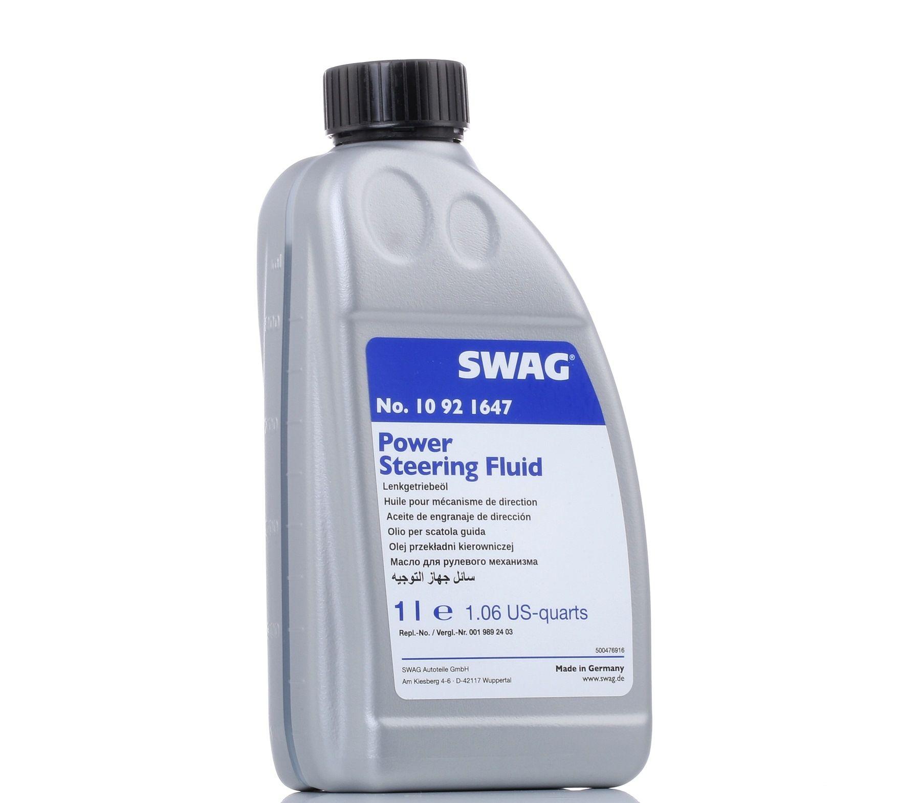 Zentralhydrauliköl 10 92 1647 im online SWAG Teile Ausverkauf