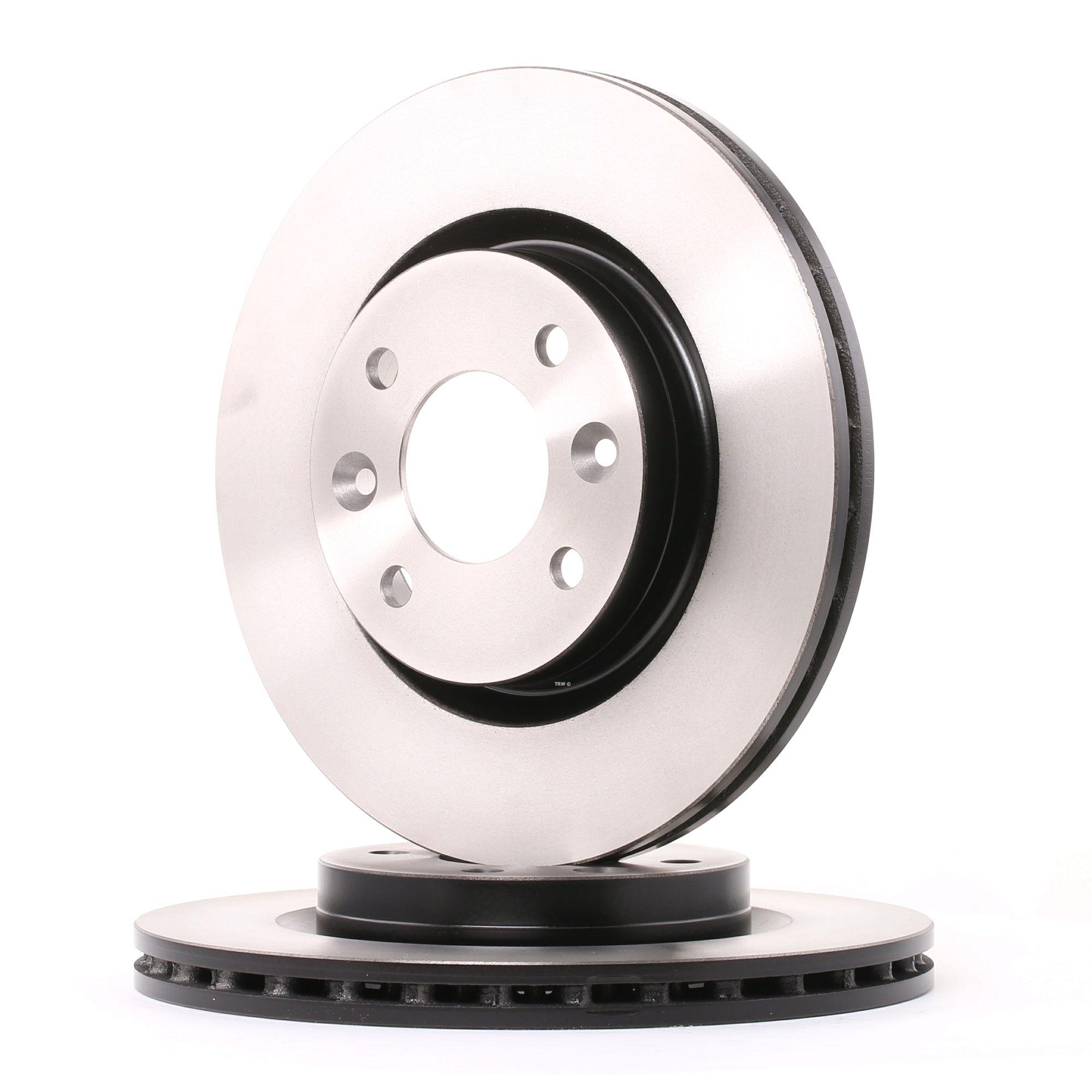 DF2586 TRW belüftet, lackiert, mit Schrauben Ø: 259mm, Lochanzahl: 4, Bremsscheibendicke: 20,6mm Bremsscheibe DF2586 günstig kaufen