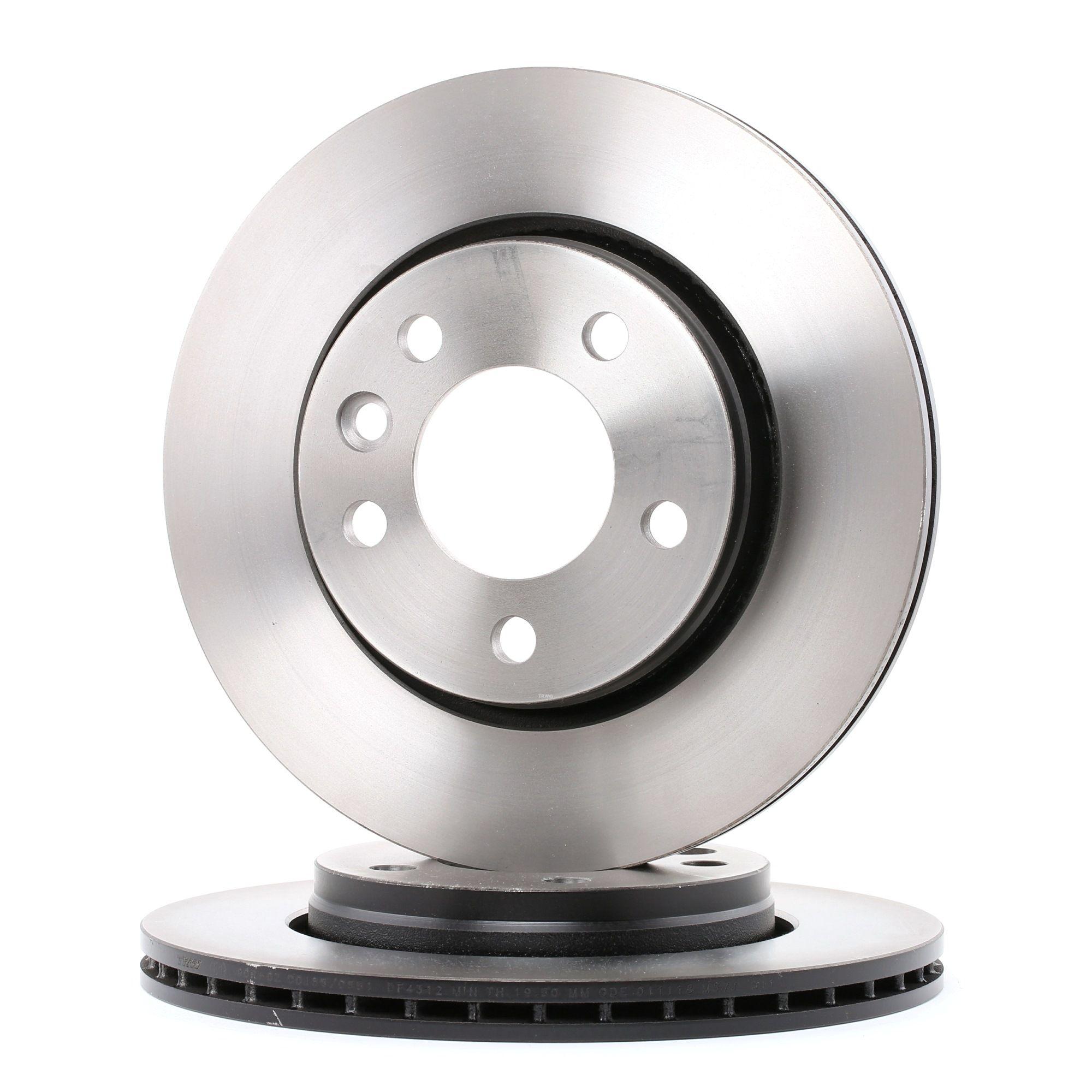 Achetez Disques de frein TRW DF4312 (Ø: 294mm, Nbre de trous: 5, Épaisseur du disque de frein: 22mm) à un rapport qualité-prix exceptionnel