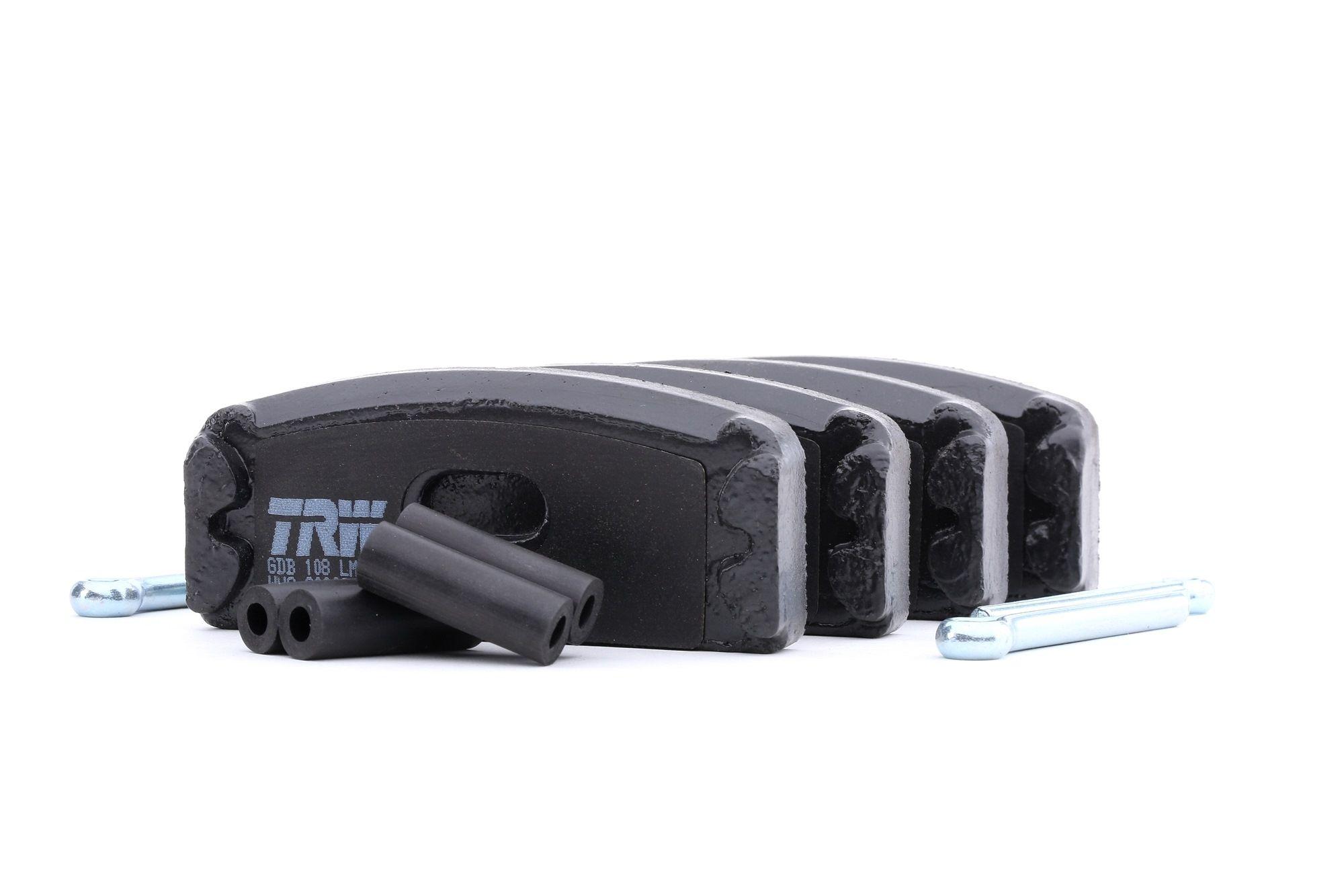 Achetez Plaquette de frein TRW GDB108 (Hauteur: 40,5mm, Épaisseur: 10,2mm) à un rapport qualité-prix exceptionnel