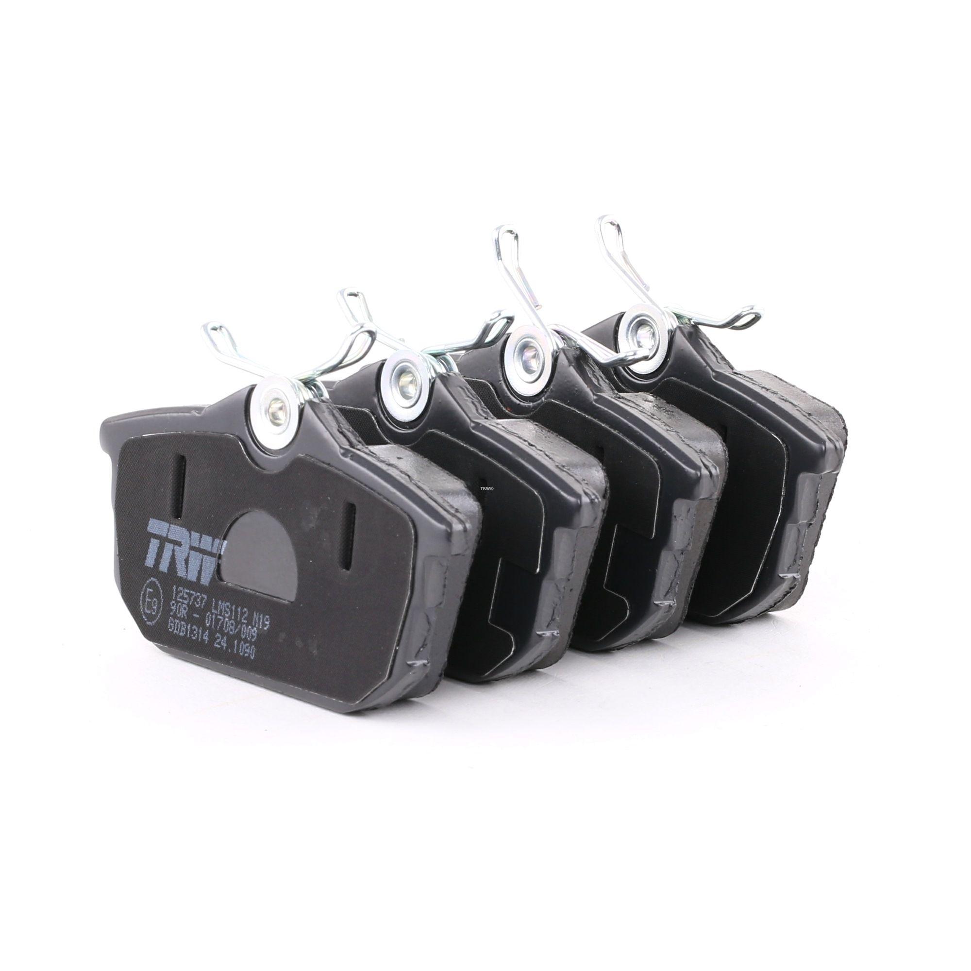 21861 TRW COTEC mit akustischer Verschleißwarnung, mit Bremssattelschrauben, mit Zubehör Höhe: 47,1mm, Dicke/Stärke: 16,7mm Bremsbelagsatz, Scheibenbremse GDB1314 günstig kaufen