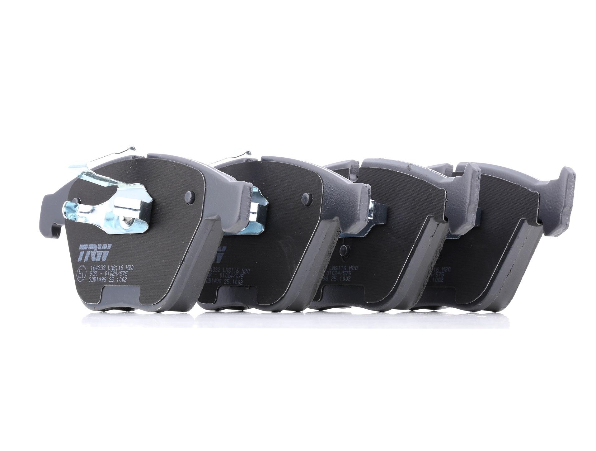Scheibenbremsbeläge BMW E82 hinten + vorne 2011 - TRW GDB1498 (Höhe: 68,5mm, Dicke/Stärke: 19,8mm)