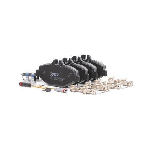Pirkti 23744 TRW COTEC įsk. įspėjimo apie nusidėvėjimą kontaktą, su stabdžių apkabos varžtais, su priedais aukštis: 66,6mm, storis: 20,0mm Stabdžių trinkelių rinkinys, diskinis stabdys GDB1542 nebrangu