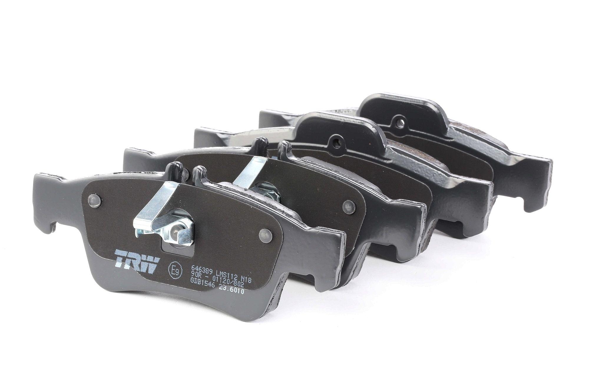 MERCEDES-BENZ SL 2014 Bremsbelagsatz - Original TRW GDB1546 Höhe 1: 59,7mm, Höhe 2: 57,4mm, Dicke/Stärke: 16,5mm