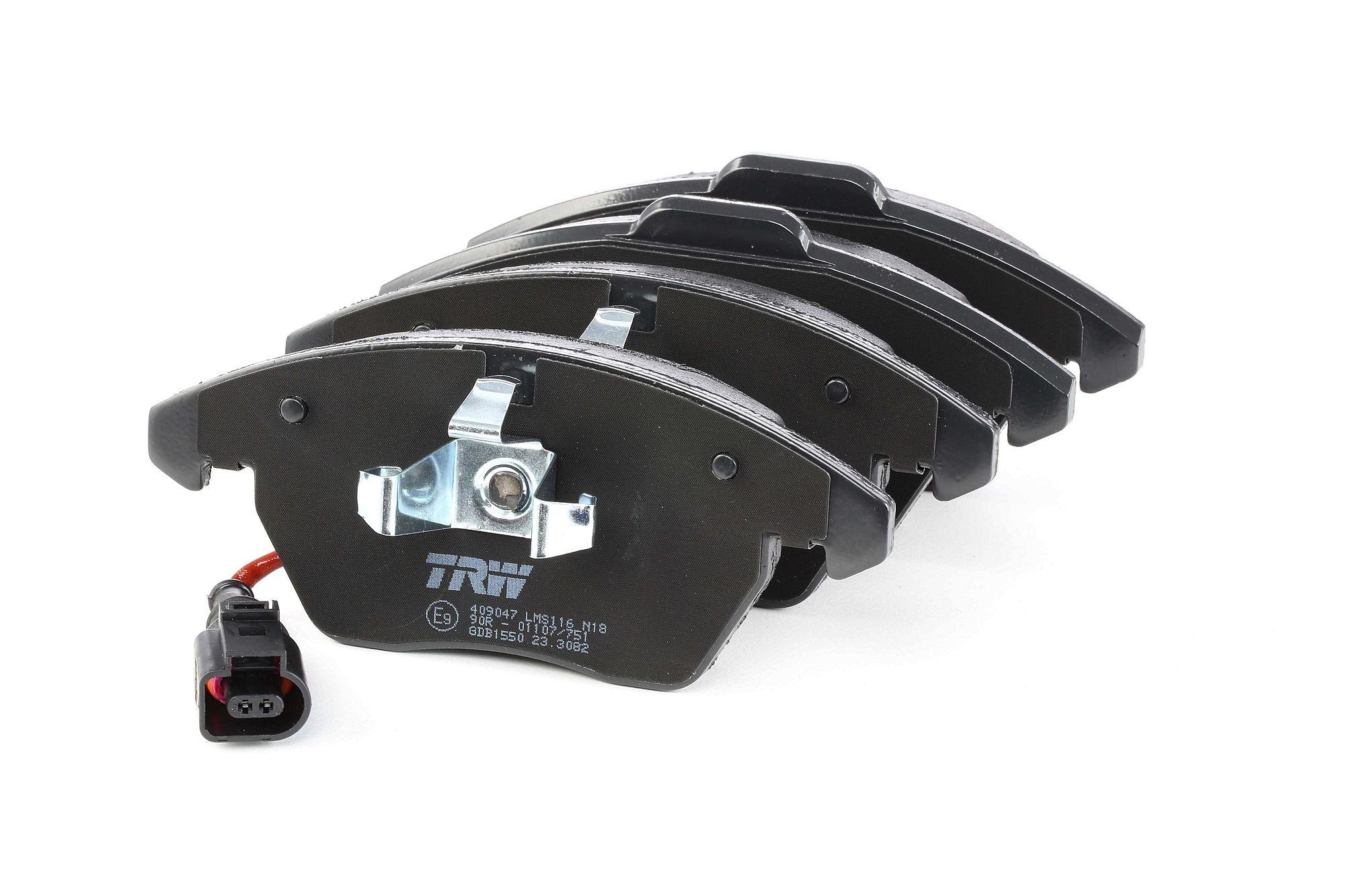 Bremsbelagsatz Golf 5 hinten + vorne 2009 - TRW GDB1550 (Höhe 1: 71,4mm, Höhe 2: 66mm, Dicke/Stärke: 20,3mm)