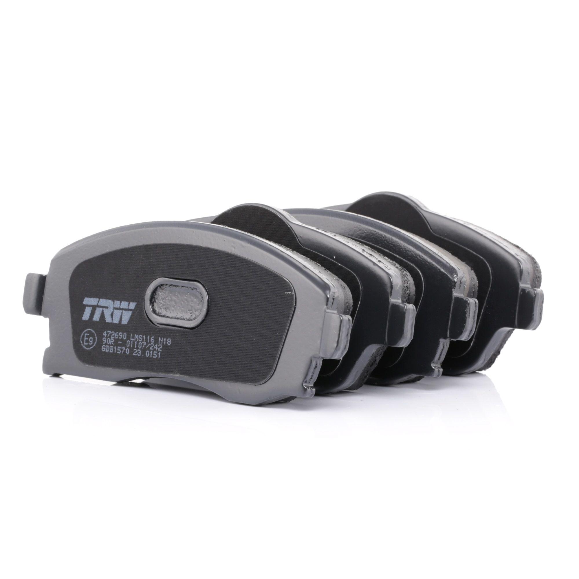 23226 TRW COTEC mit akustischer Verschleißwarnung, mit Bremssattelschrauben, mit Zubehör Höhe 1: 52,8mm, Höhe 2: 55,5mm, Dicke/Stärke: 16,8mm Bremsbelagsatz, Scheibenbremse GDB1570 günstig kaufen