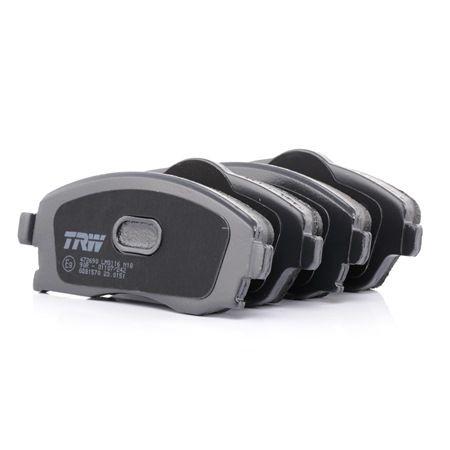 TRW: Original Bremsbelagsatz GDB1570 (Höhe 1: 52,8mm, Höhe 2: 55,5mm, Dicke/Stärke: 16,8mm) mit vorteilhaften Preis-Leistungs-Verhältnis