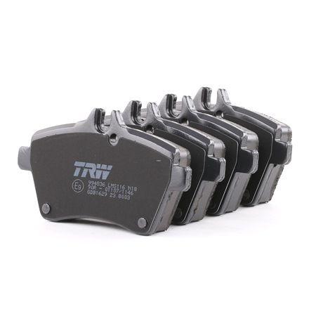TRW: Original Bremsbeläge GDB1629 (Höhe: 64,0mm, Dicke/Stärke: 18,8mm) mit vorteilhaften Preis-Leistungs-Verhältnis