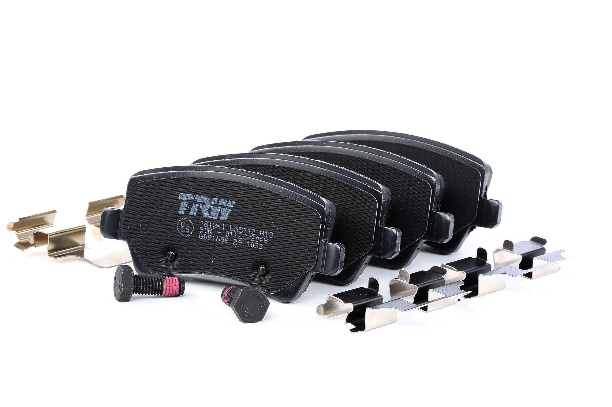 TRW: Original Bremsbelagsatz Scheibenbremse GDB1685 (Höhe: 48,6mm, Dicke/Stärke: 16,8mm)
