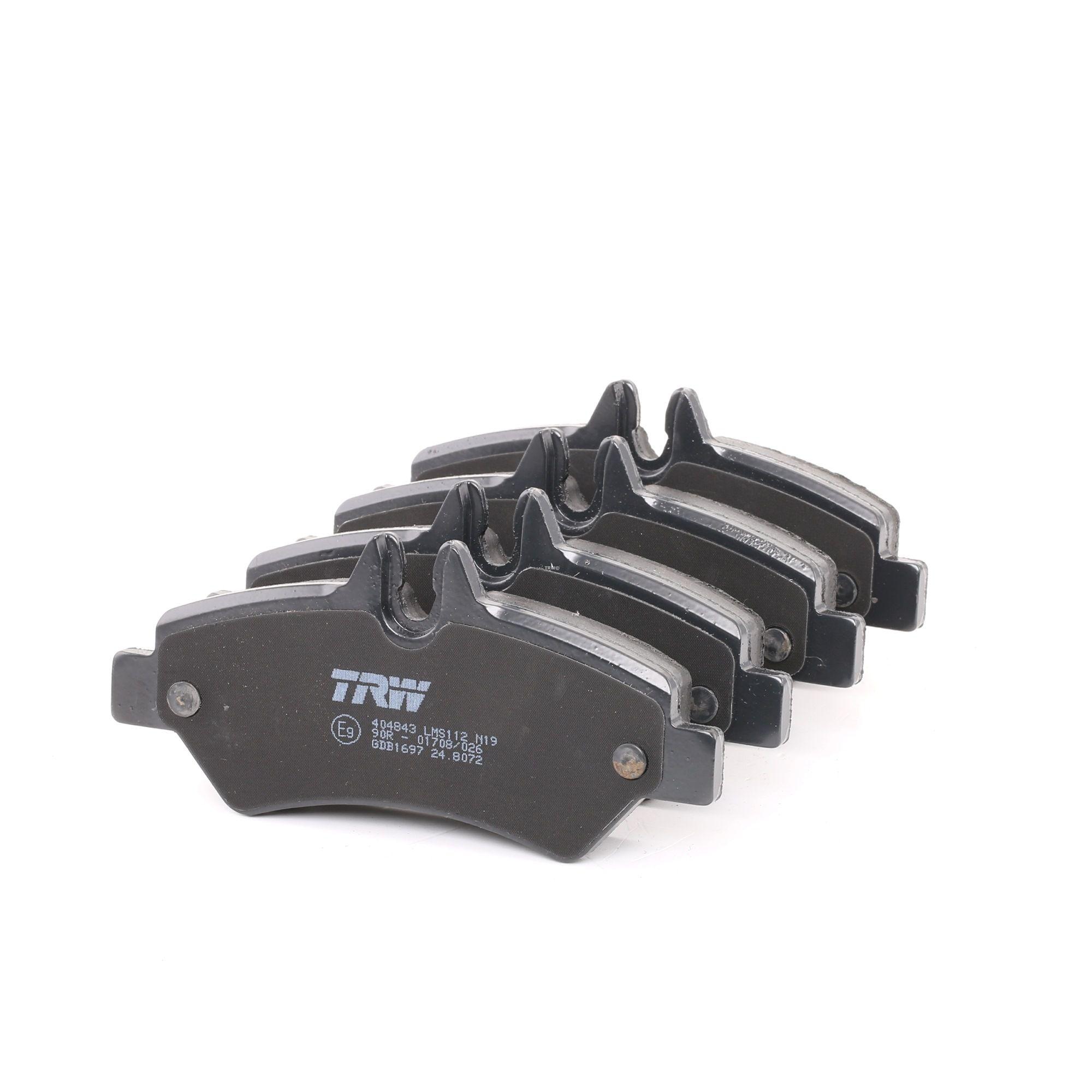 29190 TRW COTEC inkl. Verschleißwarnkontakt, mit Bremssattelschrauben, mit Zubehör Höhe: 63,1mm, Dicke/Stärke: 19,8mm Bremsbelagsatz, Scheibenbremse GDB1697 günstig kaufen