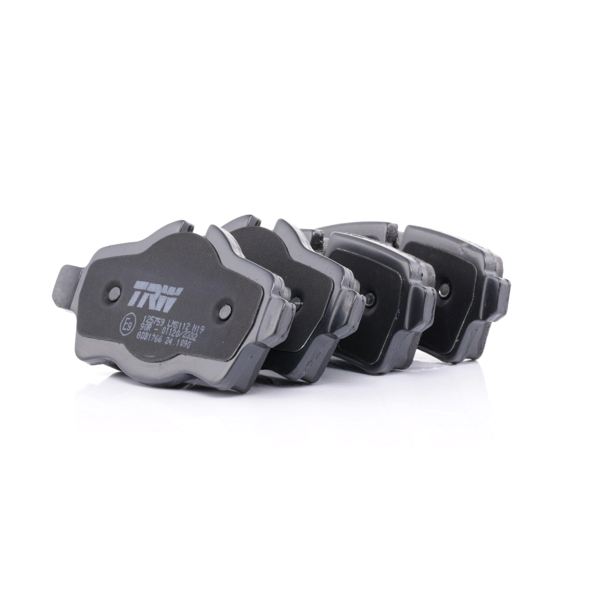 24290 TRW COTEC für Verschleißwarnanzeiger vorbereitet, mit Bremssattelschrauben, mit Zubehör Höhe 1: 49,2mm, Höhe 2: 39,2mm, Dicke/Stärke: 17,0mm Bremsbelagsatz, Scheibenbremse GDB1766 günstig kaufen