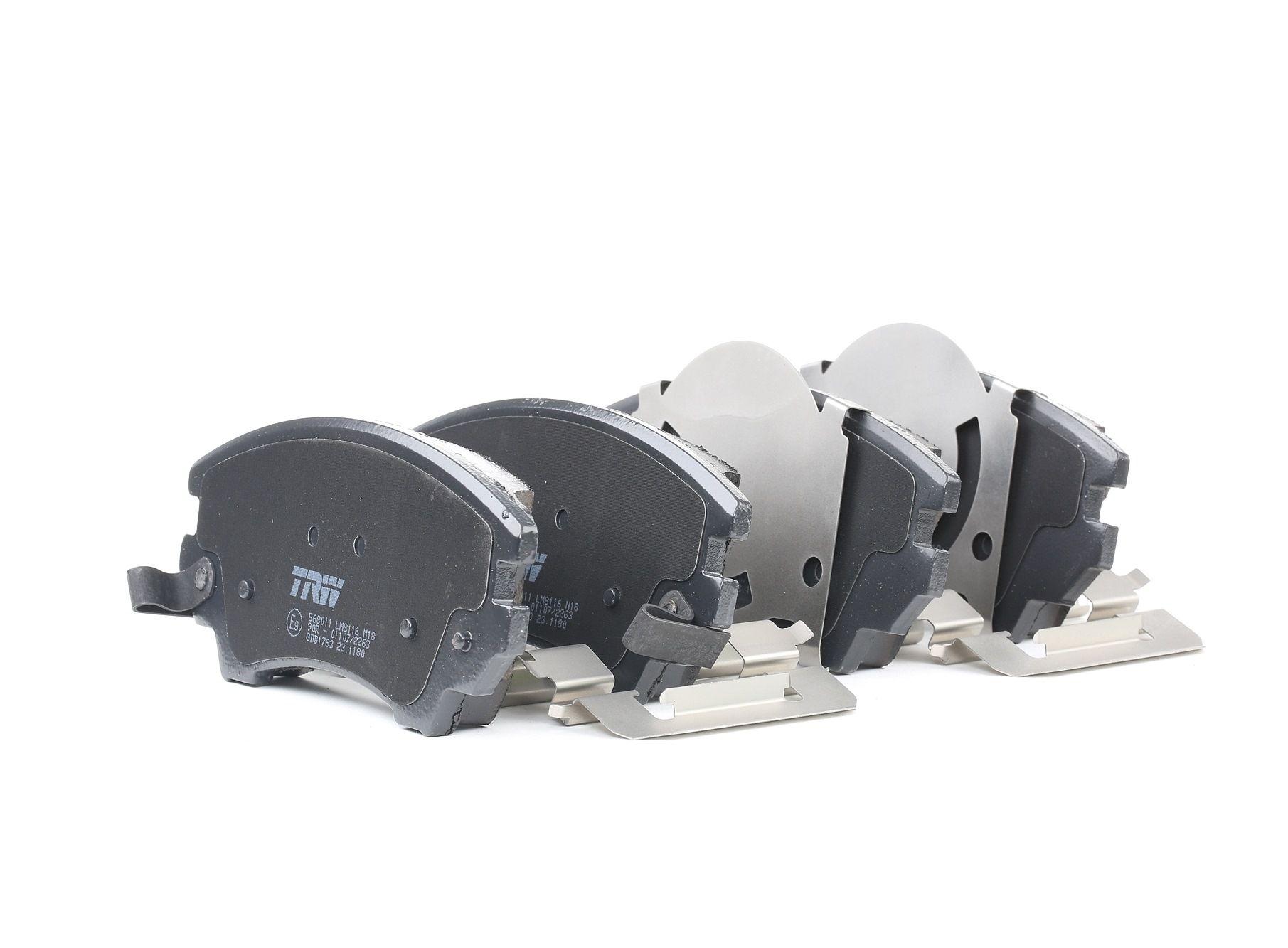 OPEL ASTRA 2014 Bremsbelagsatz - Original TRW GDB1783 Höhe: 66,7mm, Dicke/Stärke: 18,8mm