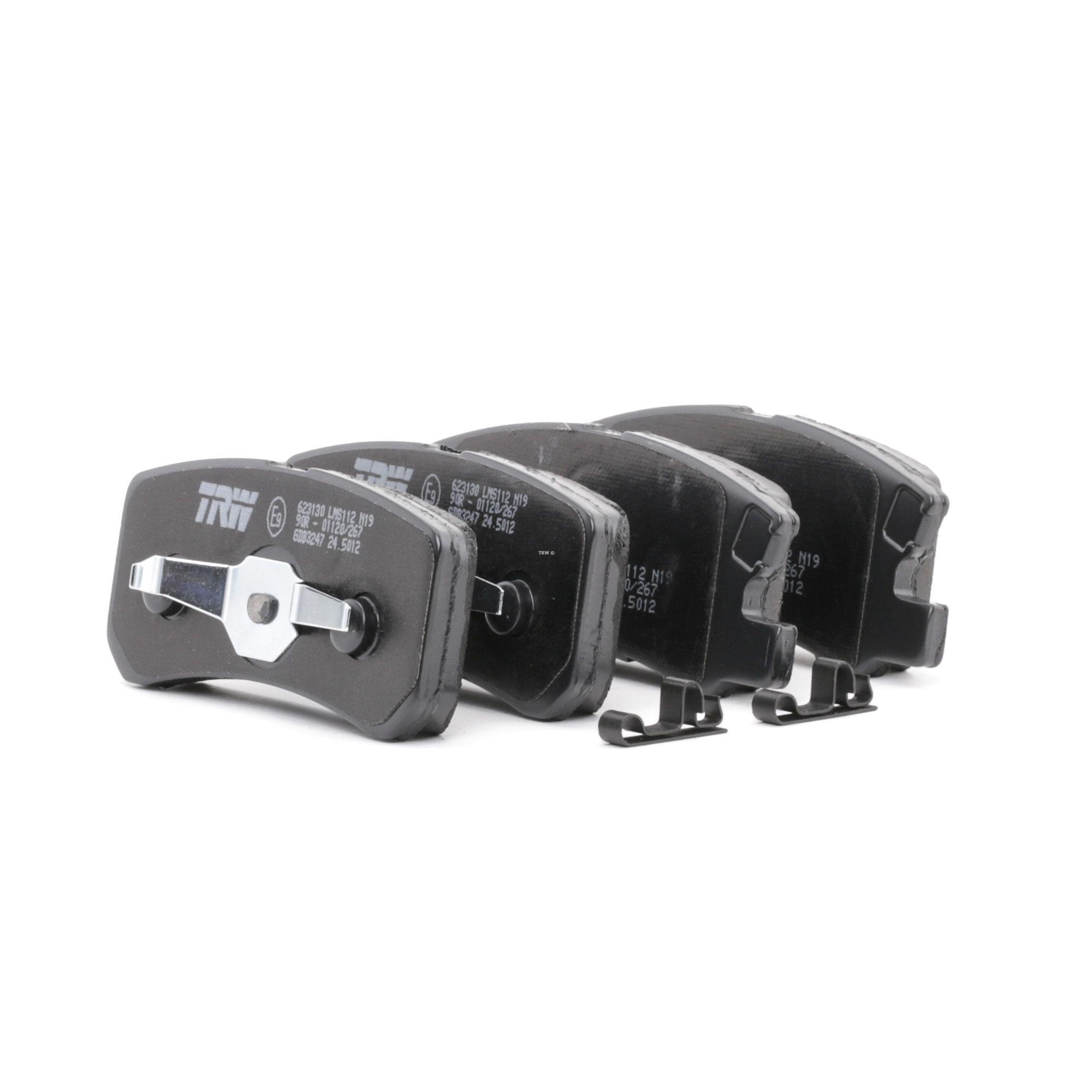 23583 TRW COTEC nicht für Verschleißwarnanzeiger vorbereitet, mit Zubehör Höhe: 45,0mm, Dicke/Stärke: 16,4mm Bremsbelagsatz, Scheibenbremse GDB3247 günstig kaufen