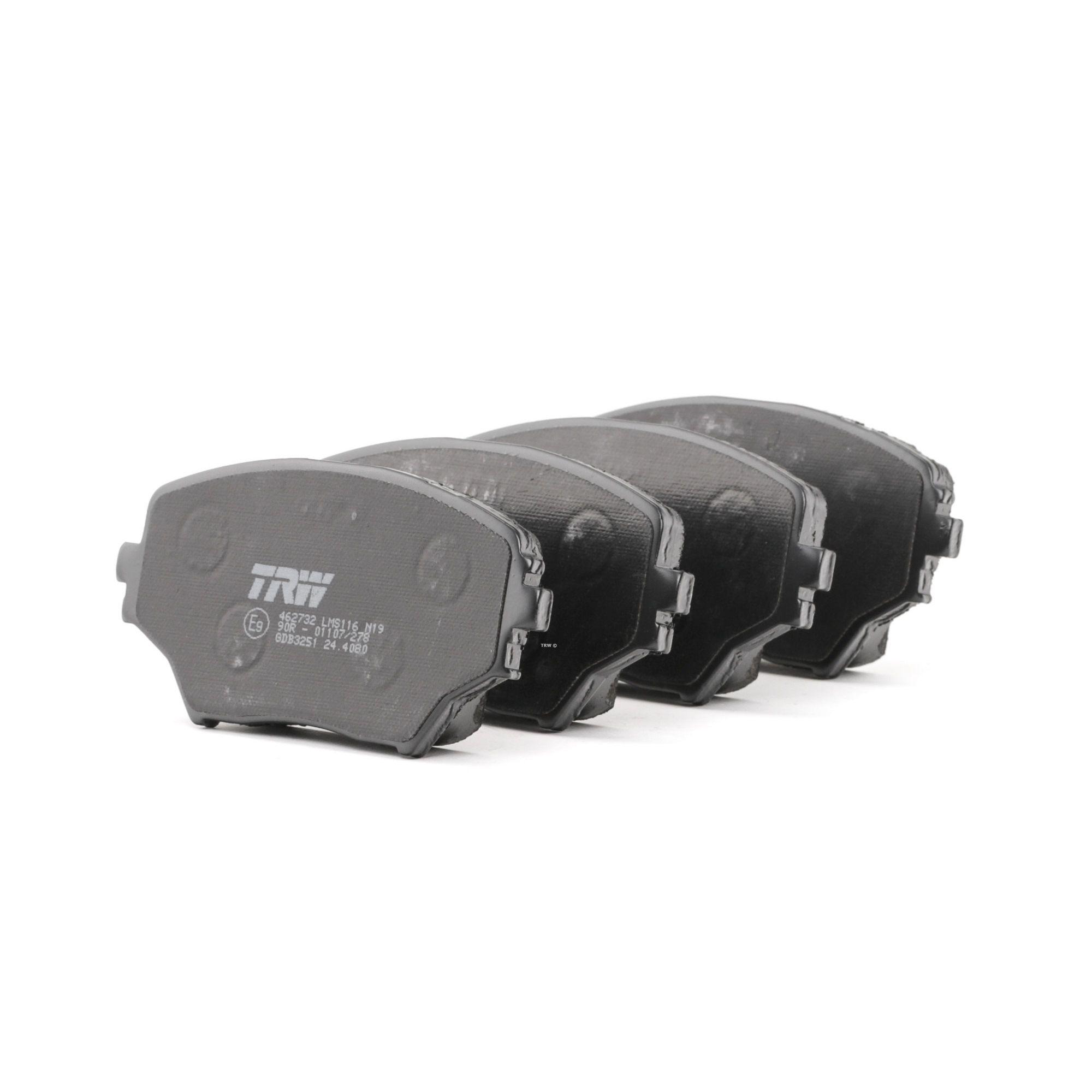 Kit pastiglie freno GDB3251 con un ottimo rapporto TRW qualità/prezzo