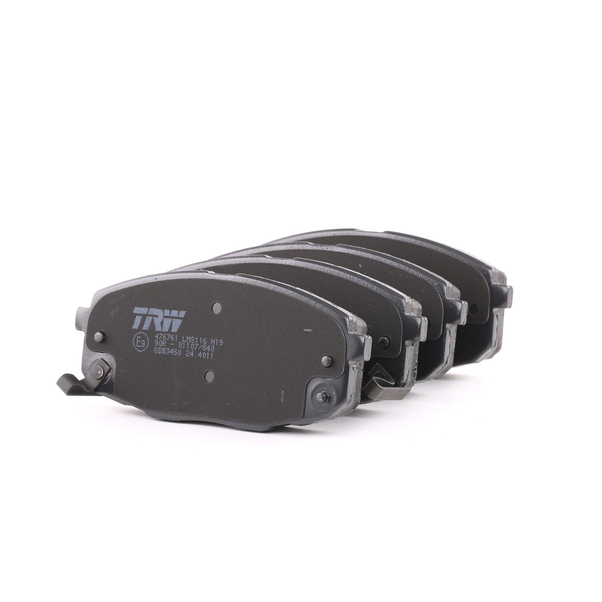 KIA PROCEED 2014 Bremsbelagsatz - Original TRW GDB3450 Höhe: 58mm, Dicke/Stärke: 17,5mm