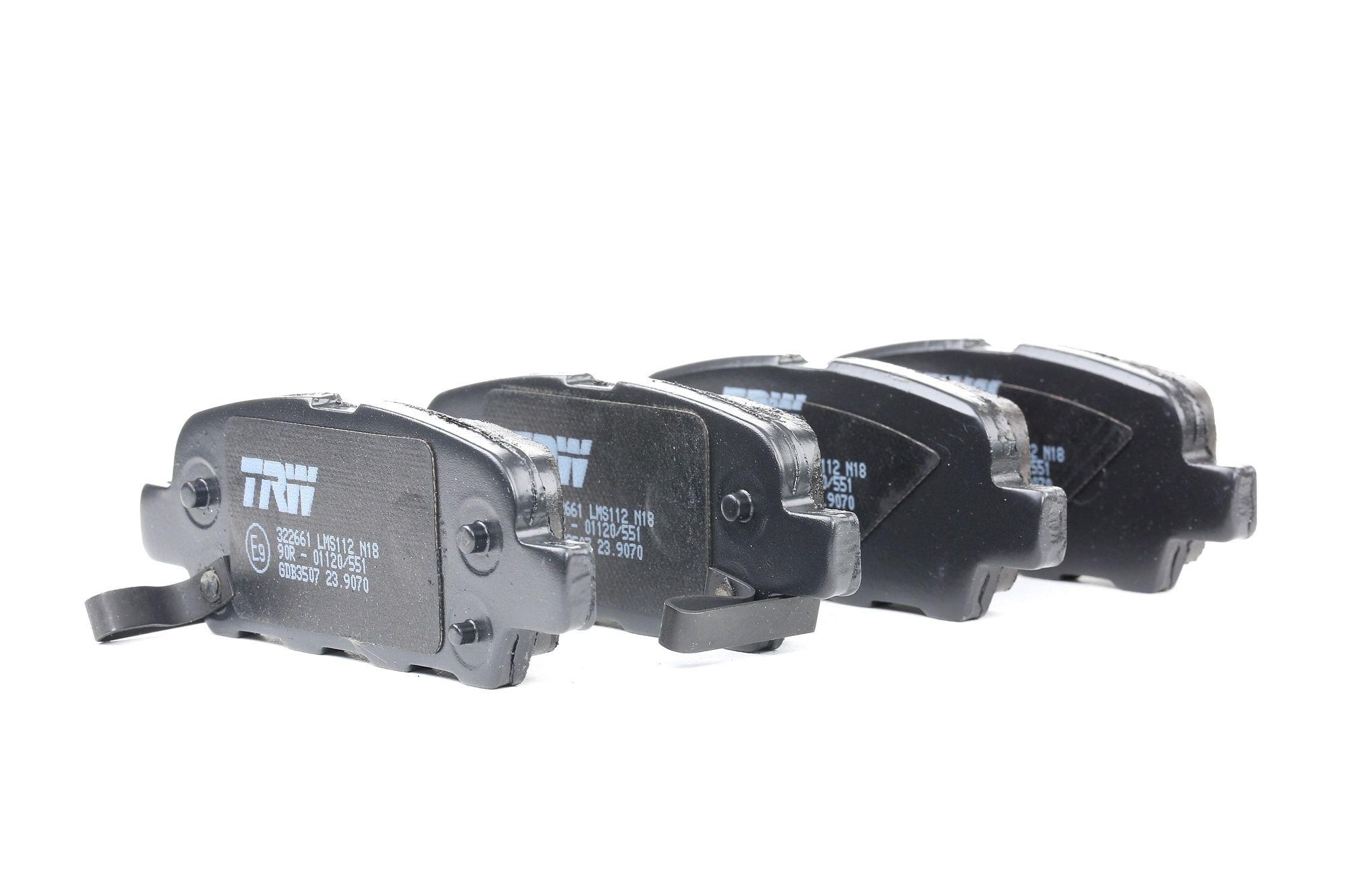 NISSAN PATHFINDER 2014 Bremsbelagsatz - Original TRW GDB3507 Höhe: 38,0mm, Dicke/Stärke: 14,0mm