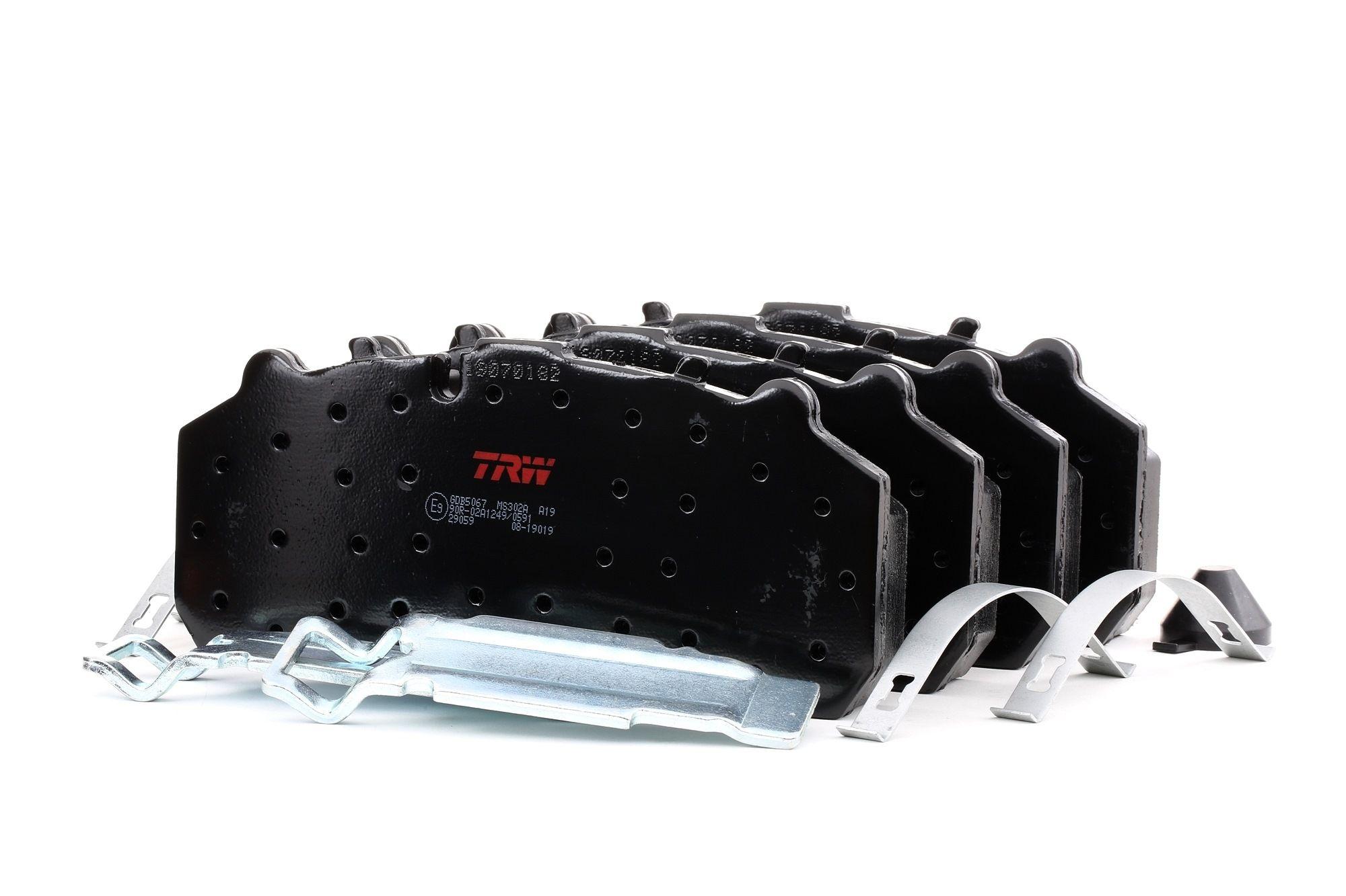 GDB5067 TRW Bremseklodser til MAN TGX - køb nu