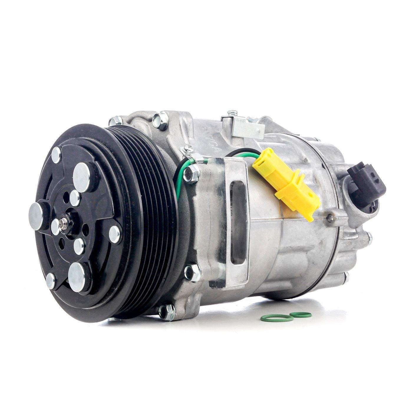 32240 NRF EASY FIT PAG 46, Kältemittel: R 134a, mit PAG-Kompressoröl Riemenscheiben-Ø: 118mm, Anzahl der Rillen: 6 Klimakompressor 32240 günstig kaufen