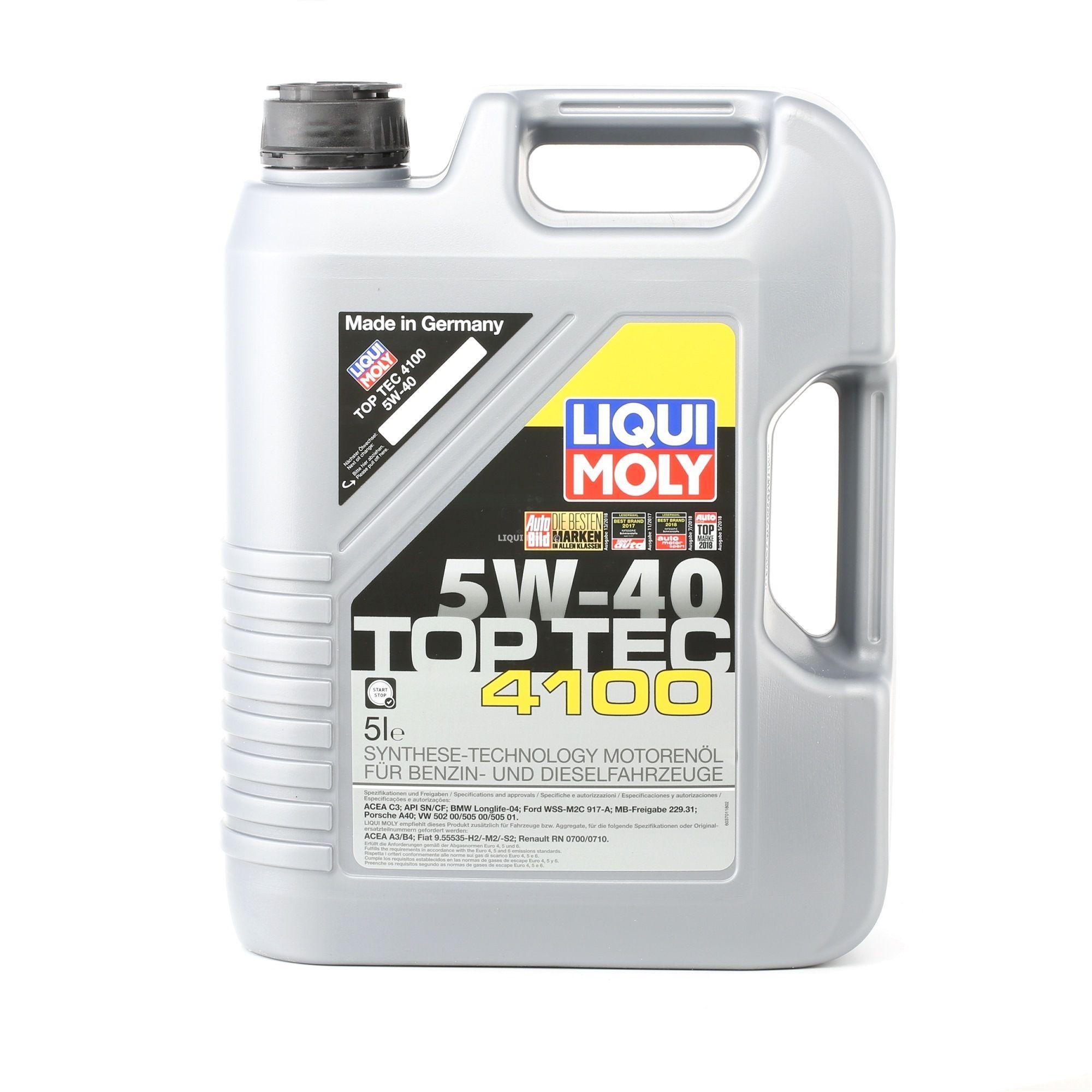Comprare RenaultRN0710 LIQUI MOLY Top Tec, 4100 5W-40, 5l, Olio sintetico Olio motore 3701 poco costoso