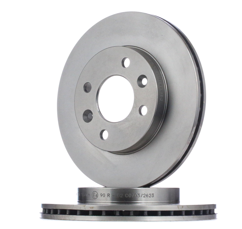 Pirkti BG2282 DELPHI ventiliuojama, 13 Ø: 238mm, stabdžių disko storis: 20mm Stabdžių diskas BG2282 nebrangu