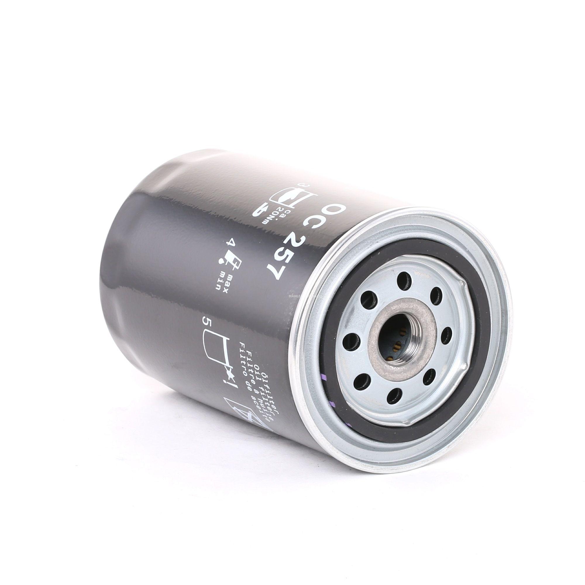 Comprare 79637034 MAHLE ORIGINAL Filtro ad avvitamento Diametro interno 2: 62,0mm, Diametro esterno 1: 72,0mm, Ø: 93,2mm, Alt.: 141,0mm Filtro olio OC 257 poco costoso