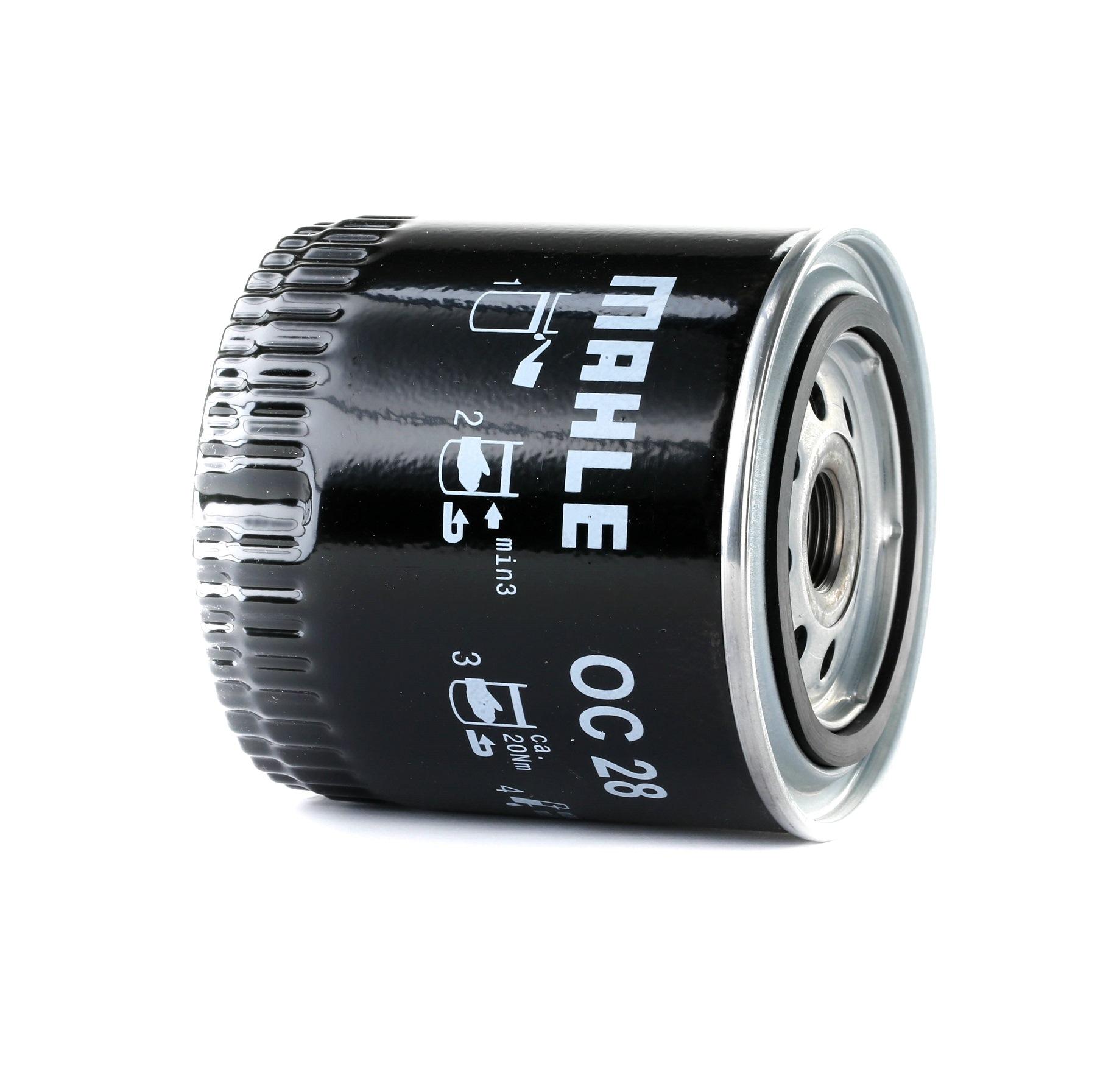 Achetez Filtre à huile MAHLE ORIGINAL OC 28 (Diamètre intérieur 2: 62mm, Diamètre intérieur 2: 62mm, Ø: 93,2mm, Diamètre extérieur 2: 72mm, Ø: 93,2mm, Hauteur: 96mm) à un rapport qualité-prix exceptionnel