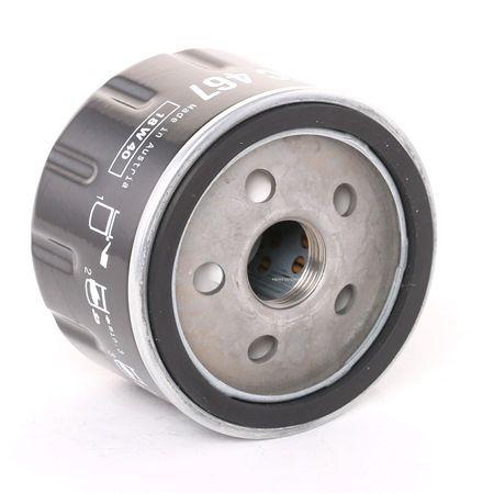 MAHLE ORIGINAL: Original Motorölfilter OC 467 (Innendurchmesser 2: 62mm, Außendurchmesser 2: 72mm, Ø: 76,0mm, Höhe: 55mm)
