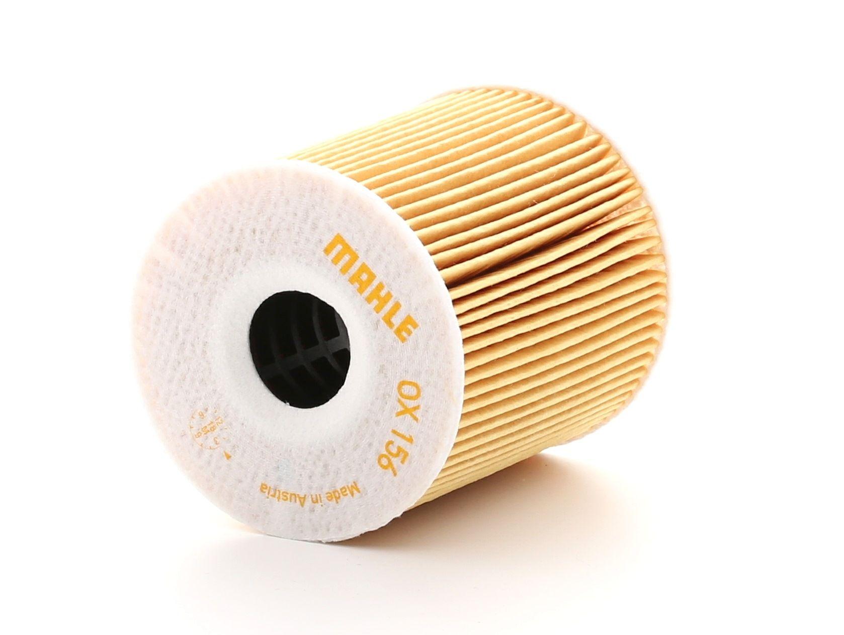 79926021 MAHLE ORIGINAL Filtereinsatz Innendurchmesser 2: 23mm, Ø: 72,0mm, Ø: 72,0mm, Höhe: 79mm, Höhe 1: 79mm Ölfilter OX 156D günstig kaufen