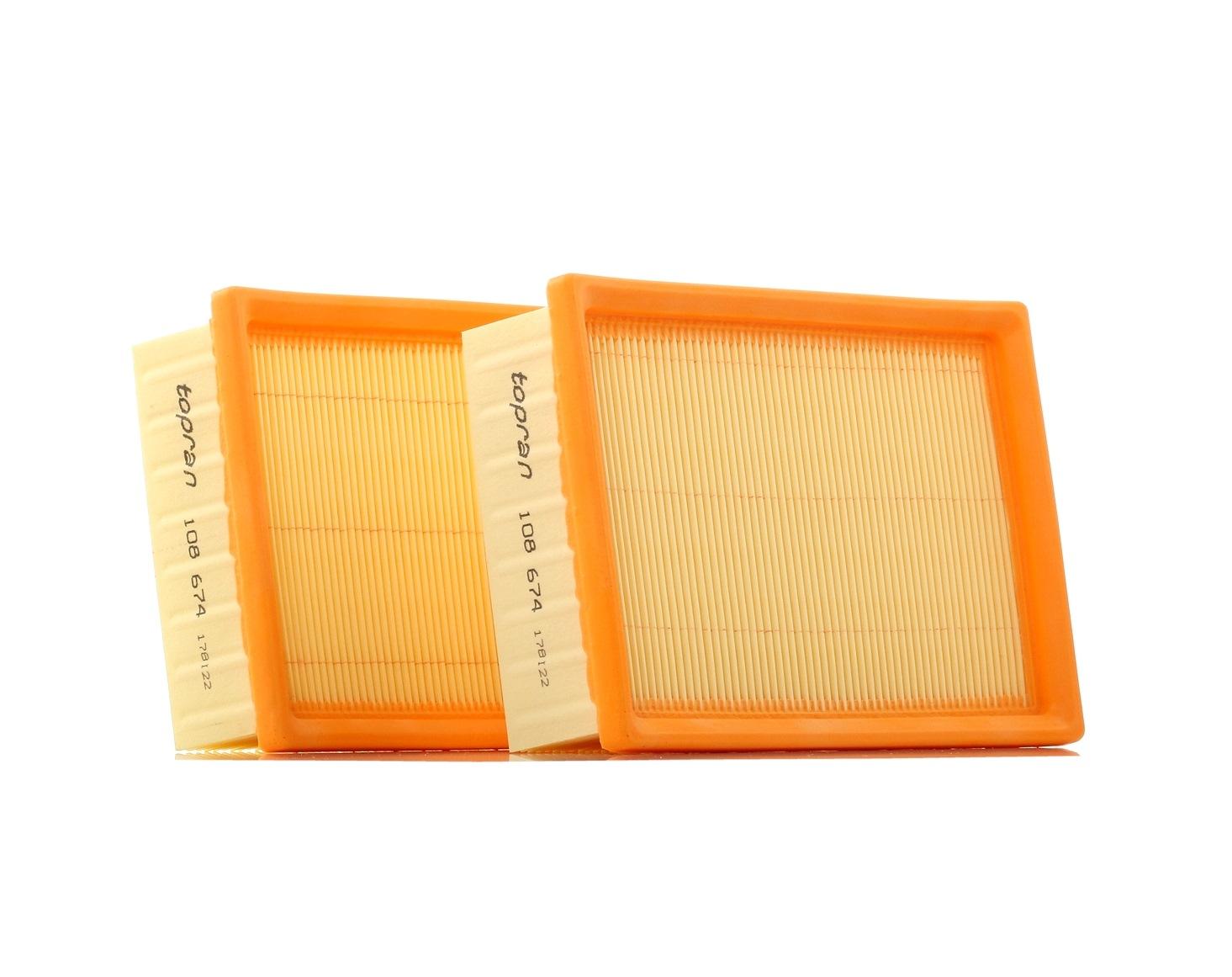 Zracni filter 108 674 TOPRAN - samo novi deli