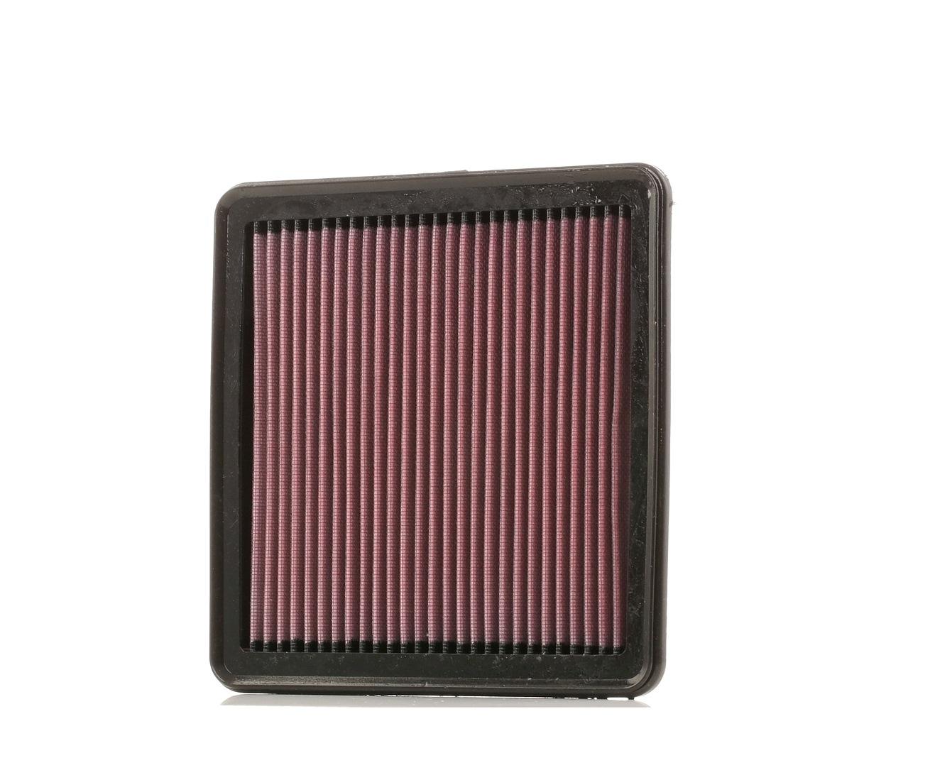 K&N Filters: Original Motorluftfilter 33-2304 (Länge: 222mm, Länge: 222mm, Breite: 217mm, Höhe: 24mm)